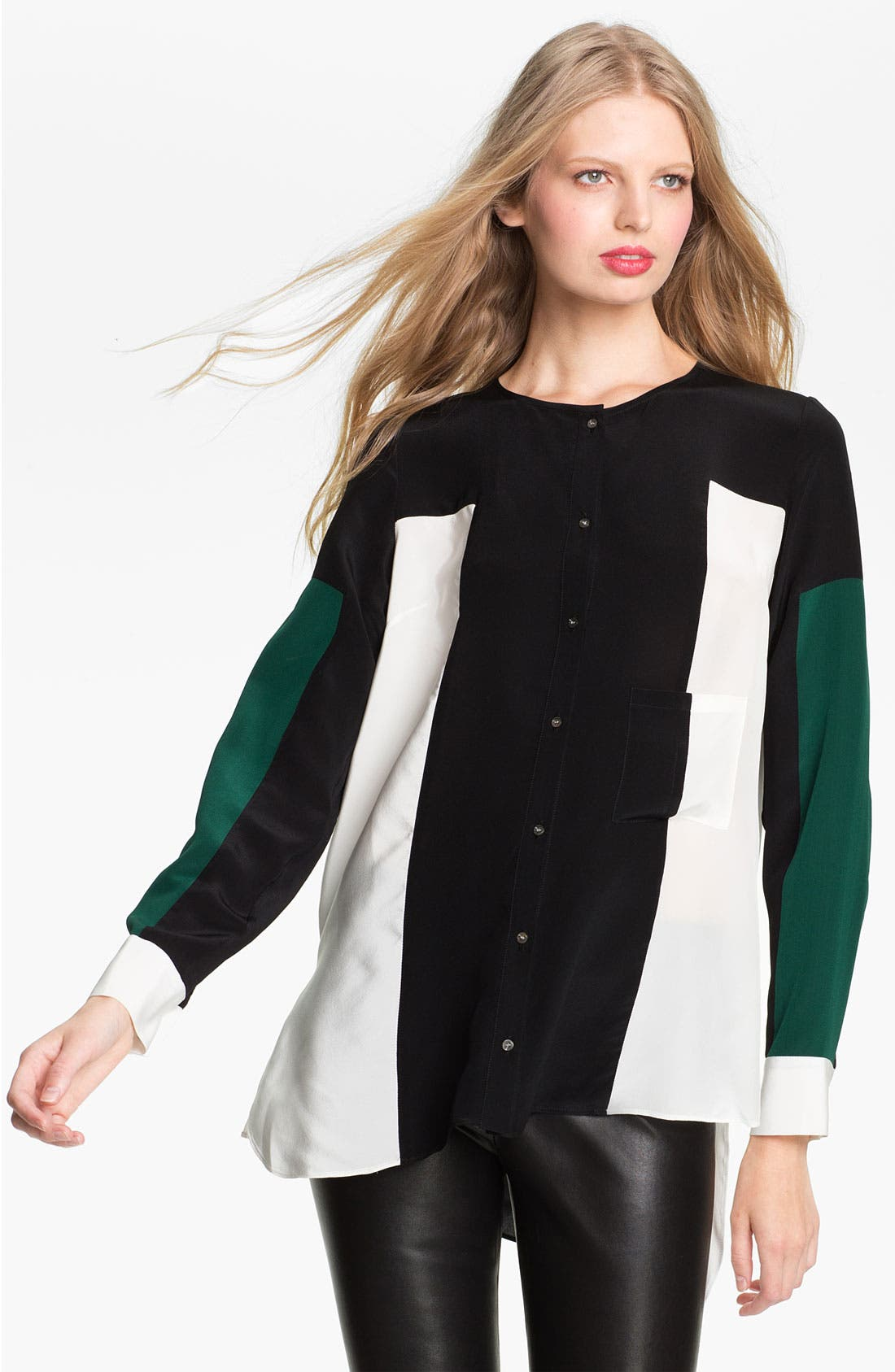 Main Image - Elizabeth and James 'Ivy' Colorblock Silk Shirt
