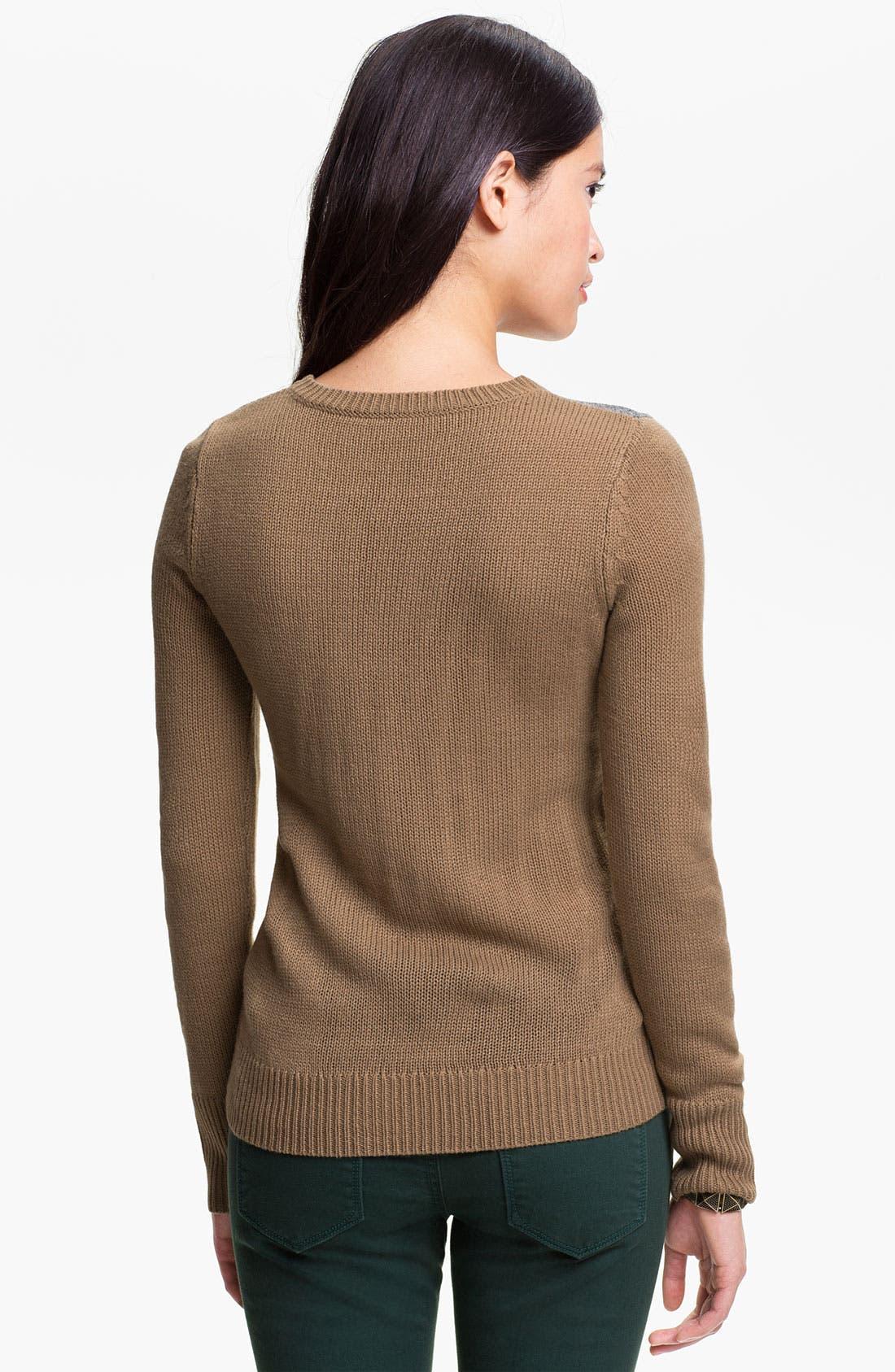 Alternate Image 2  - Frenchi® 'Fox Stole' Sweater (Juniors)