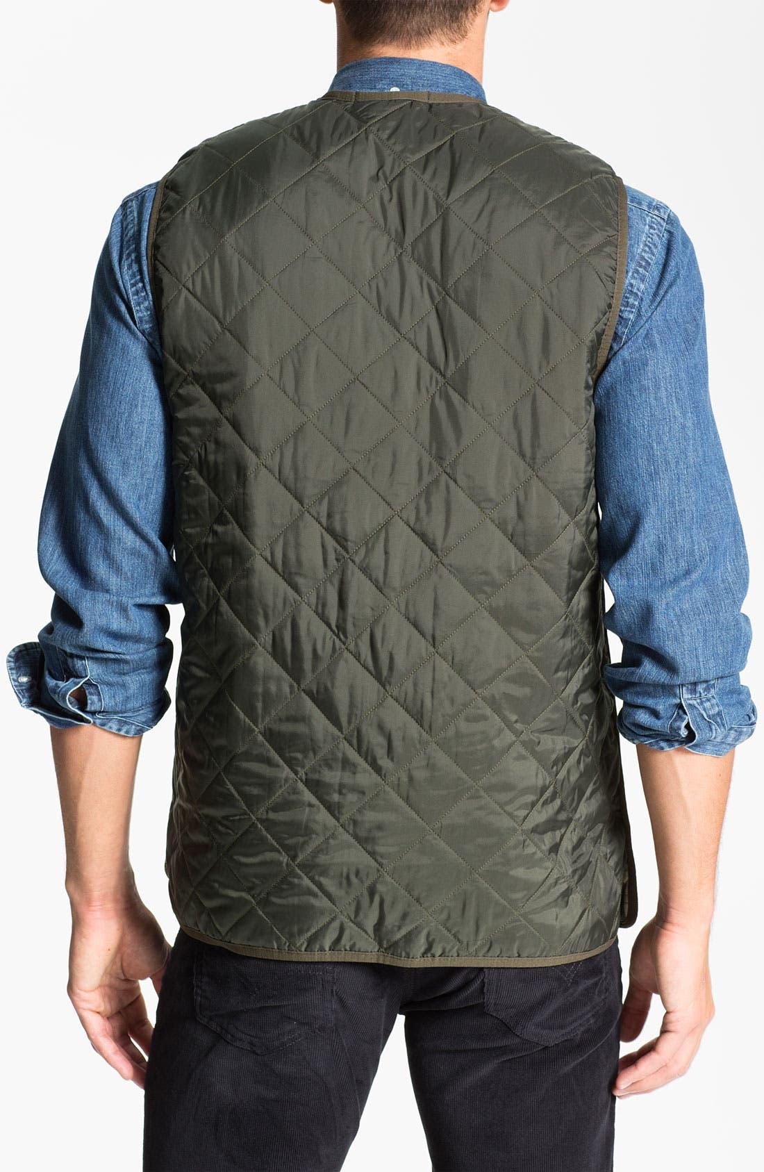 Alternate Image 2  - Barbour Quilted Zip-In Liner Vest