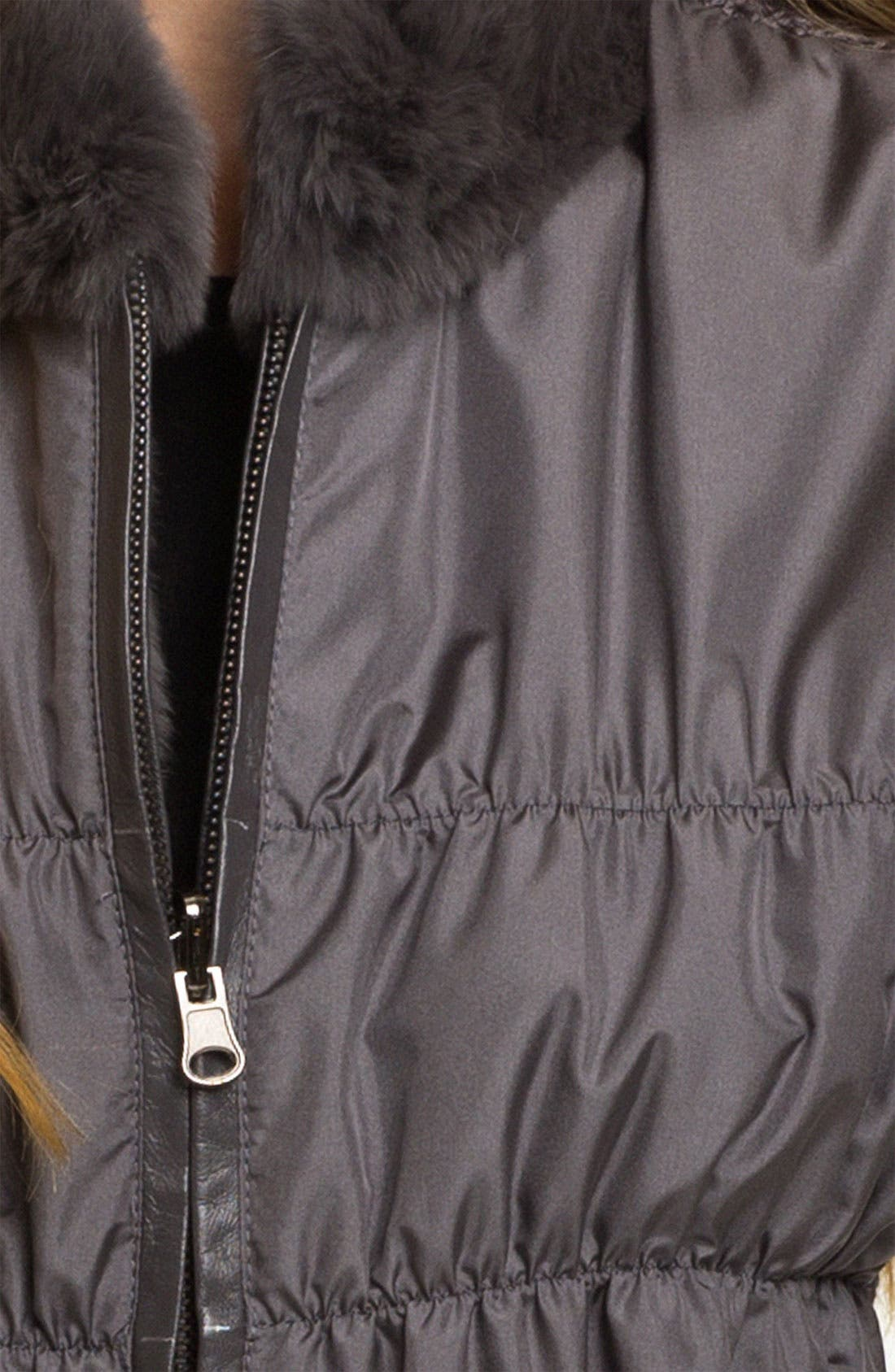 Alternate Image 3  - Linda Richards Reversible Genuine Rabbit Fur Front Vest