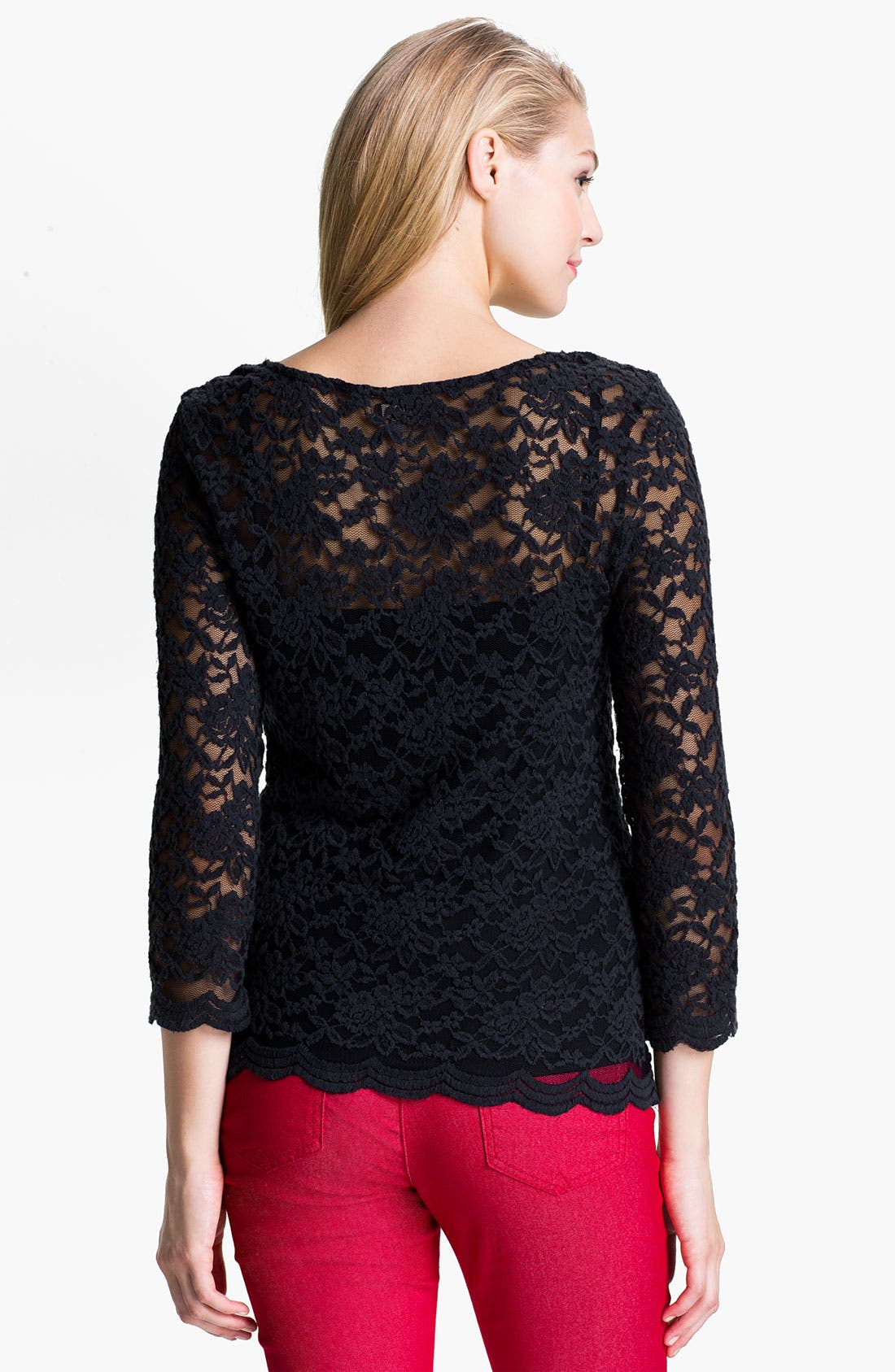 Alternate Image 2  - KUT from the Kloth 'Mariela' Lace Top (Online Exclusive)