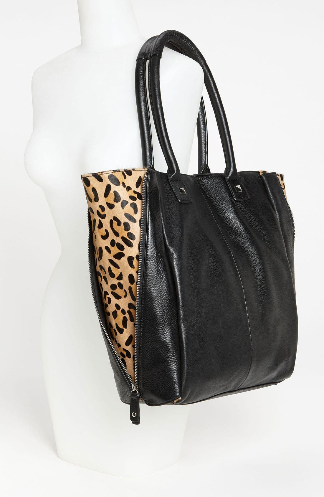 Alternate Image 2  - Halogen® Calf Hair Zip Out Leather Tote
