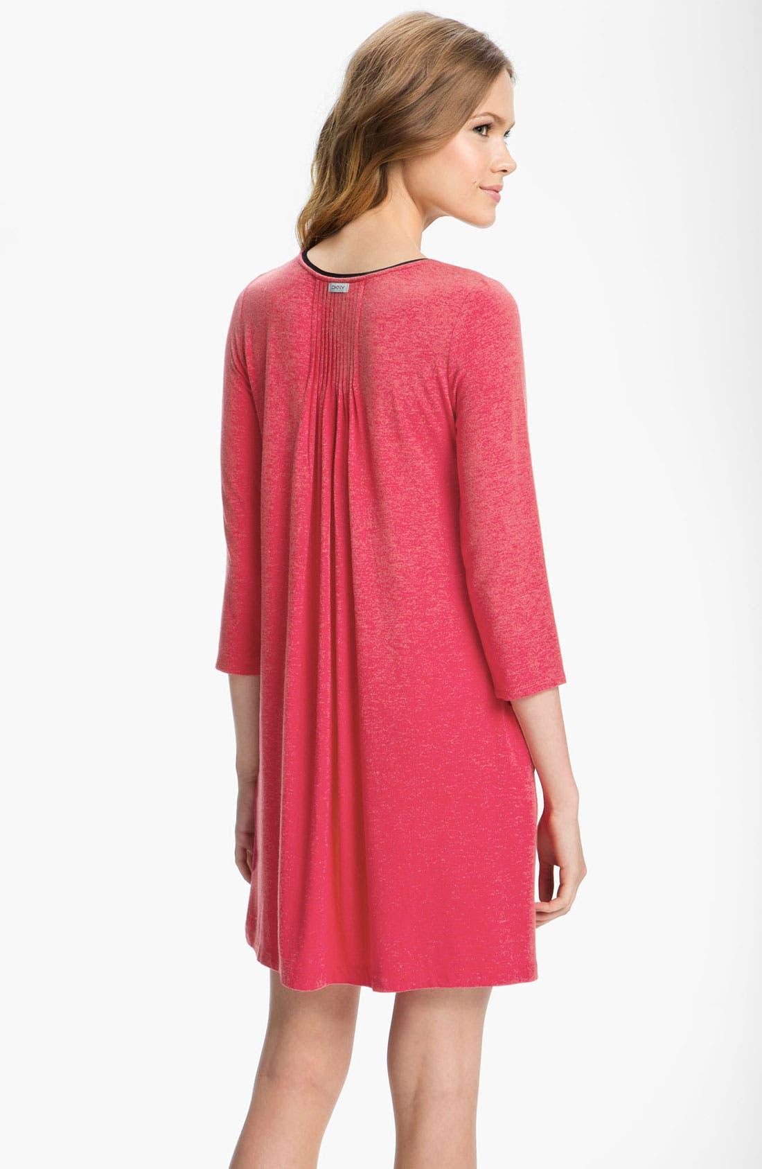 Alternate Image 2  - DKNY '7 Easy Pieces' Pintuck Sleep Shirt