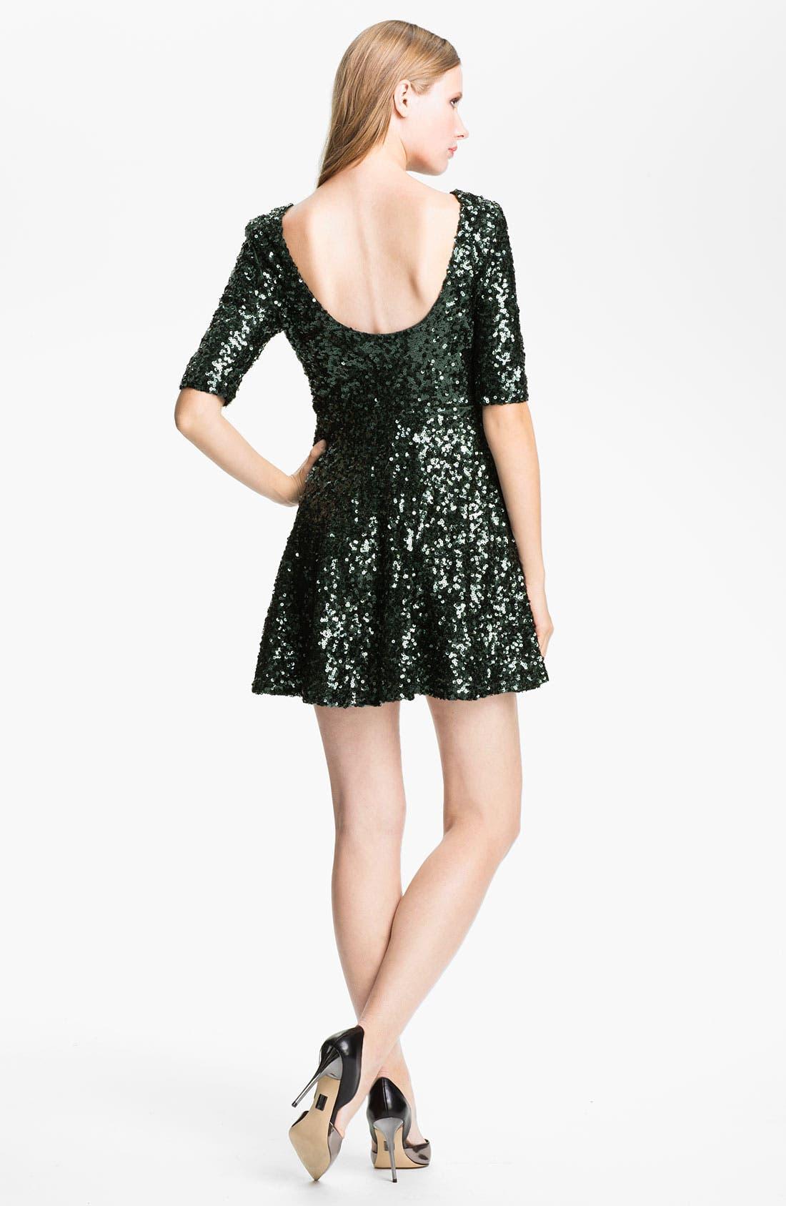 Alternate Image 2  - French Connection 'Ozlem' Scoop Back Sequin Fit & Flare Dress