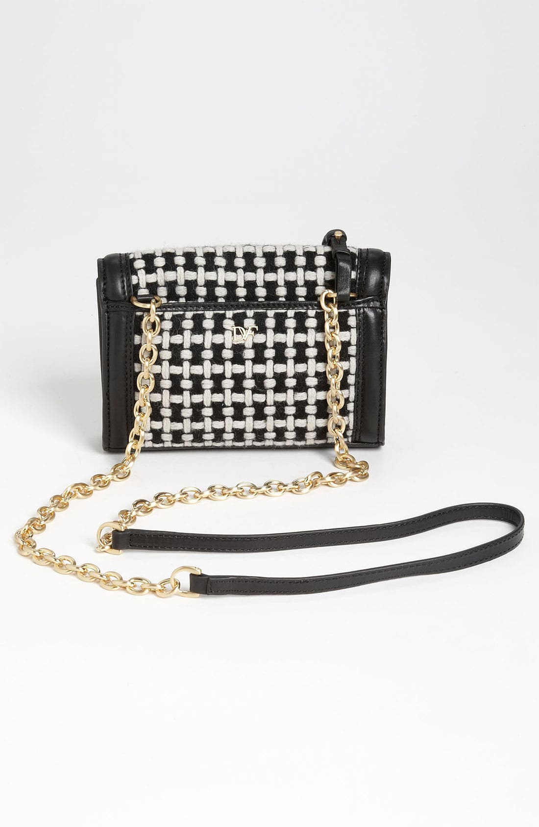 Alternate Image 4  - Diane von Furstenberg 'New Harper - Charlie' Checkered Wool Crossbody Bag