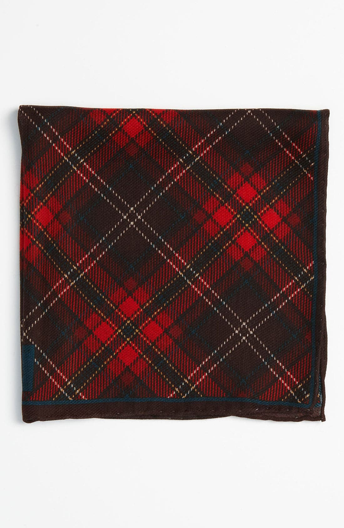 Silk & Wool Pocket Square,                         Main,                         color, Red