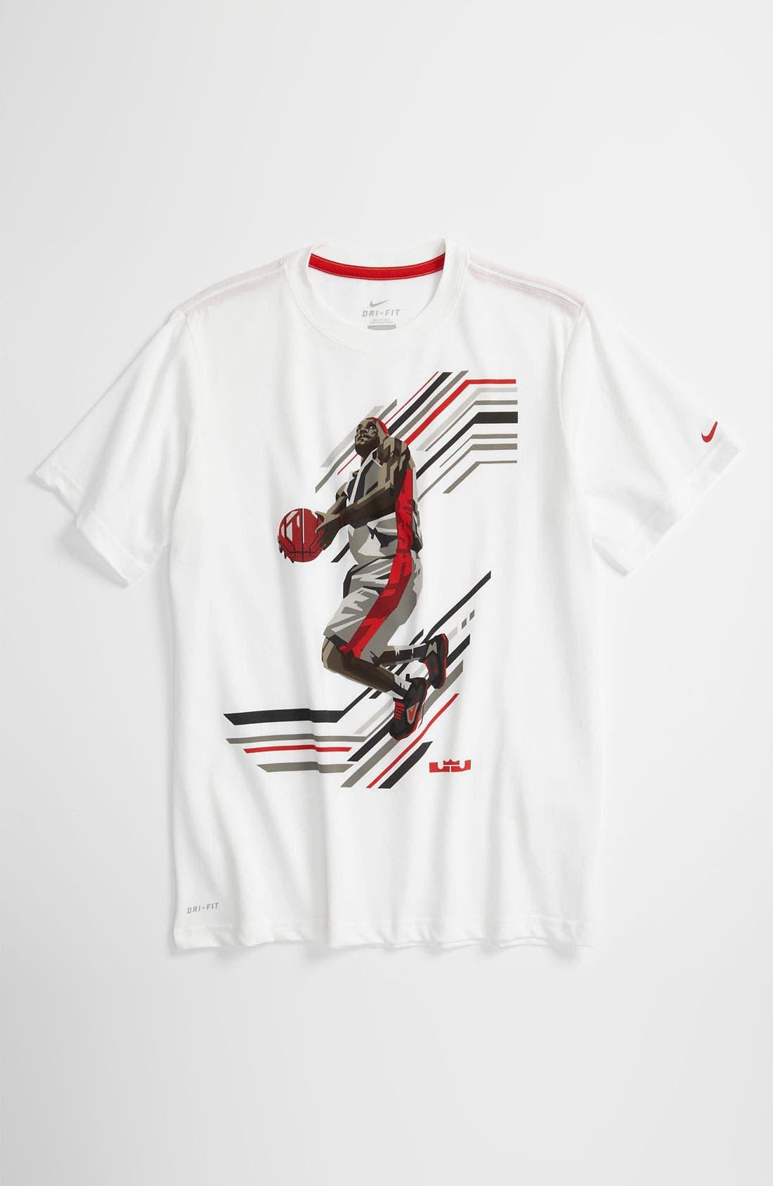 Alternate Image 1 Selected - Nike 'LeBron - Tech' Dri-FIT Cotton T-Shirt (Big Boys)
