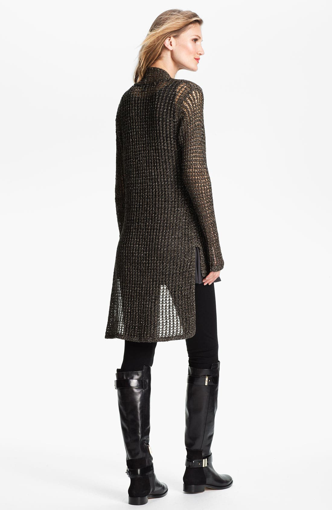Alternate Image 5  - Eileen Fisher Sparkle Mesh Cardigan