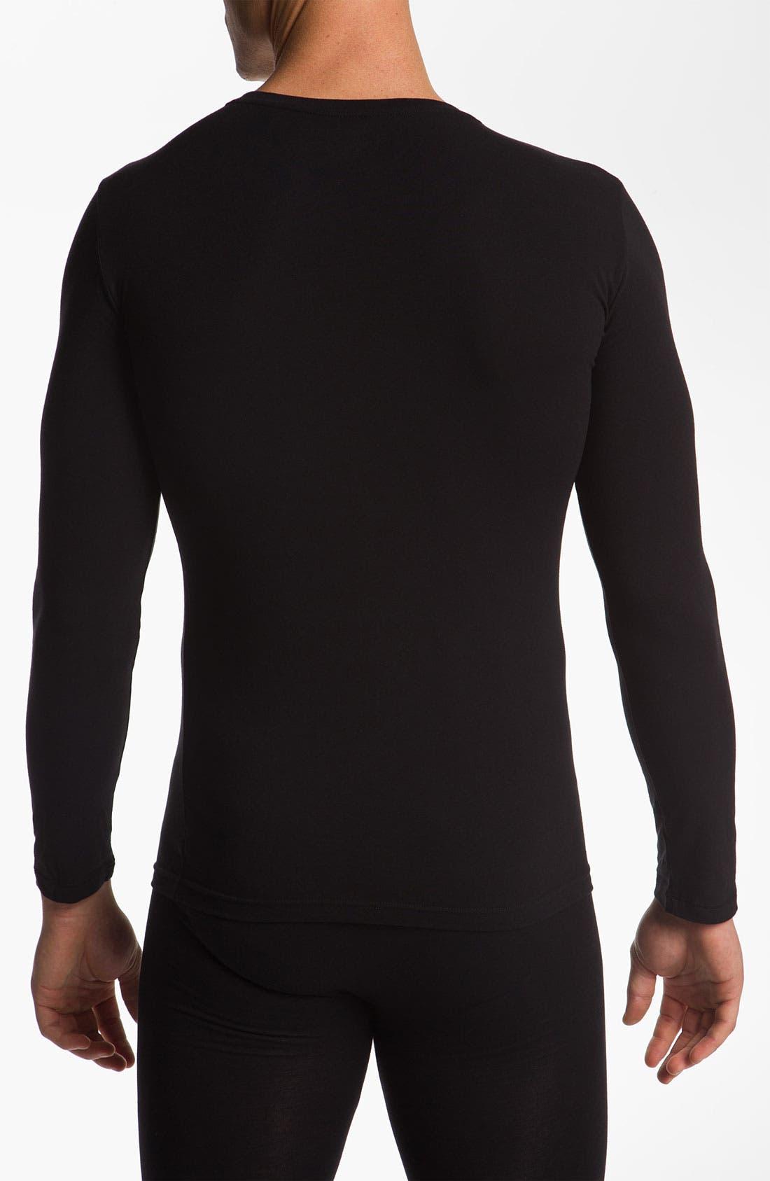 Alternate Image 2  - Emporio Armani 'Basic' Long Sleeve Stretch T-Shirt