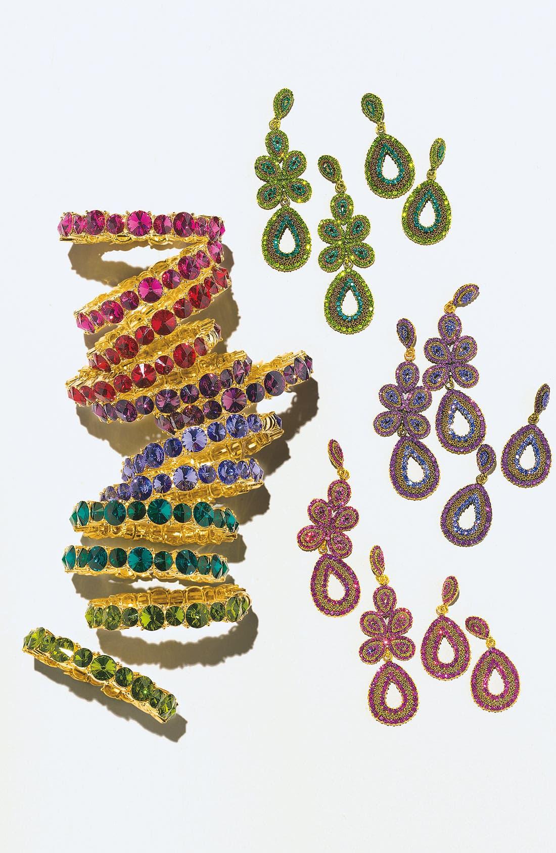 Alternate Image 2  - Tasha 'Ornate' Linear Statement Earrings