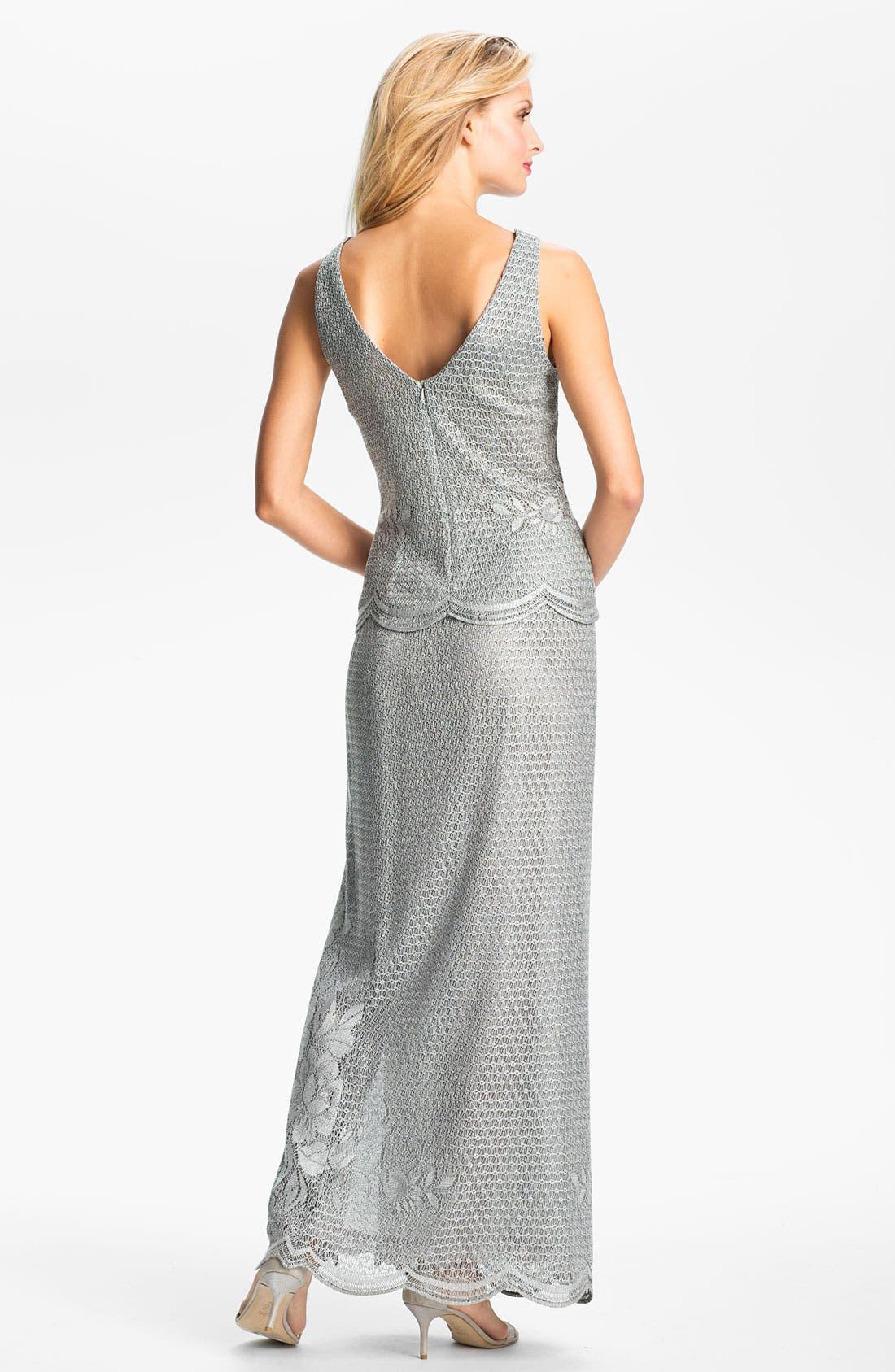 Alternate Image 3  - Damianou Metallic Lace Tank, Skirt & Bell Cuff Jacket