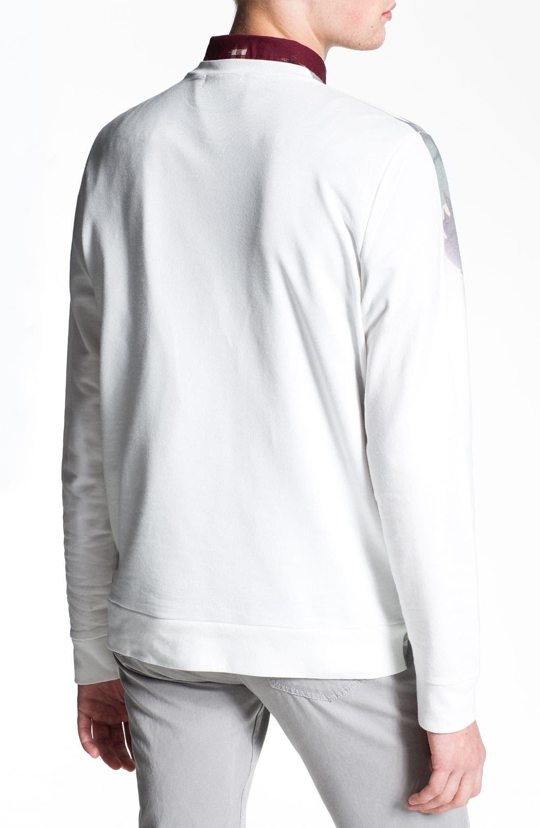 Alternate Image 2  - Topman Camo Sweatshirt