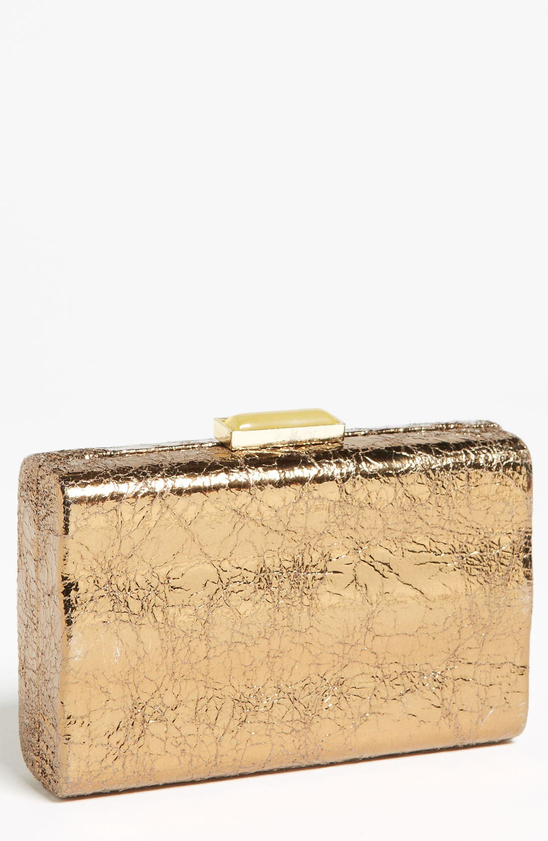 Main Image - Expressions NYC 'Metallic Wave' Box Clutch