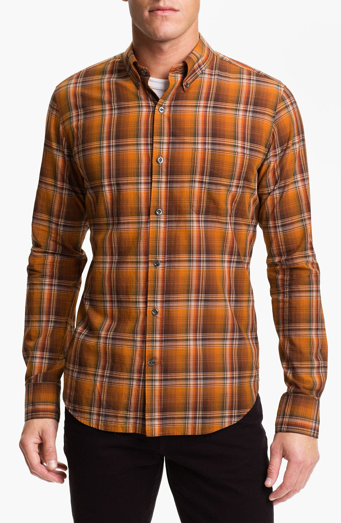 Alternate Image 1 Selected - Vince 'Bright Plaids' Woven Shirt