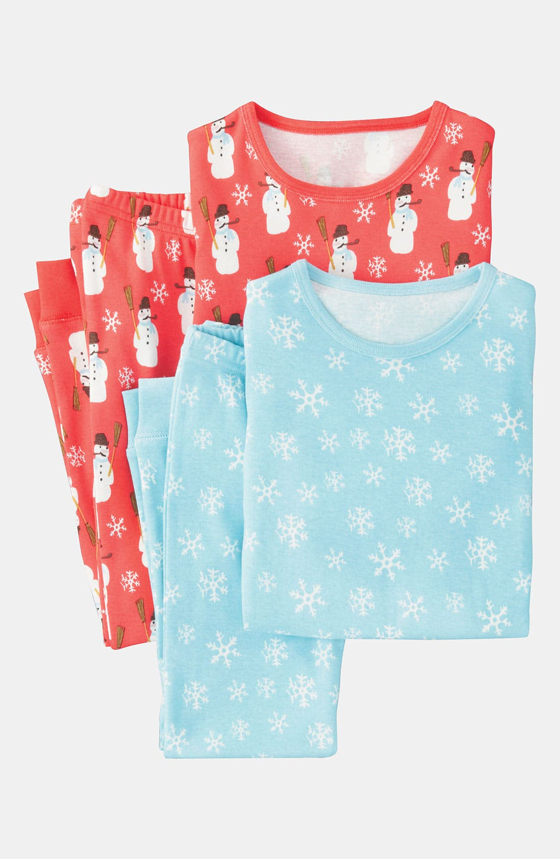 Alternate Image 1 Selected - Mini Boden Fitted Pajamas (2-Pack) (Toddler)