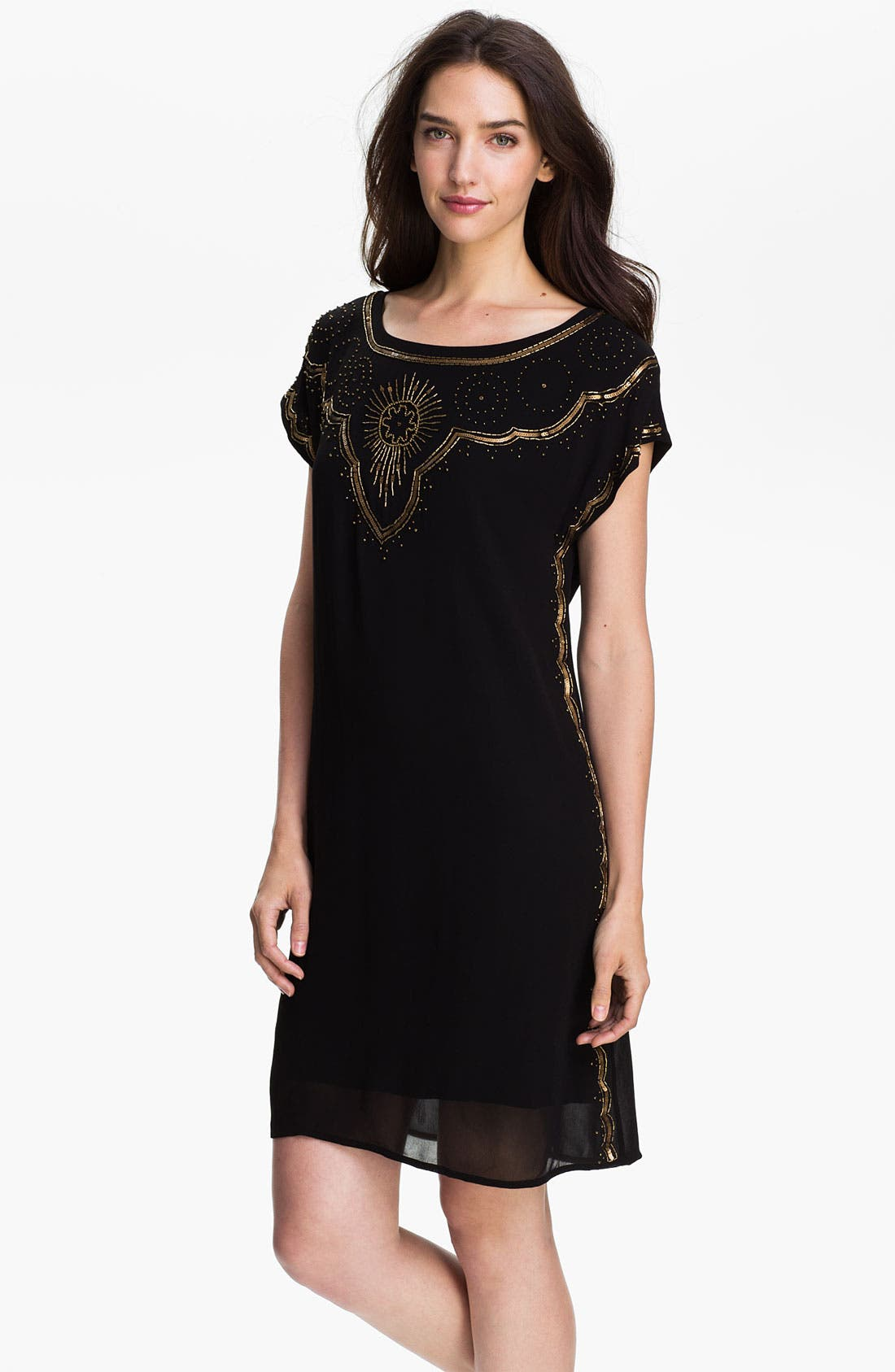 Alternate Image 1 Selected - Lucky Brand 'Good Fortune' Embellished Dress