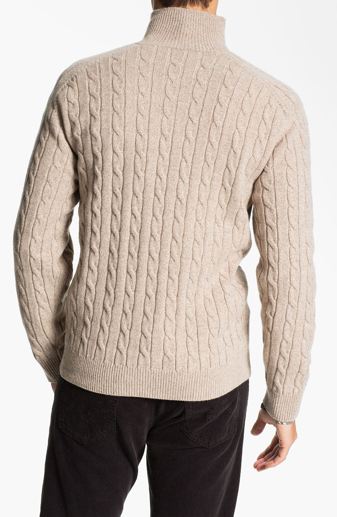 Alternate Image 2  - Lora Gi Half Zip Wool & Cashmere Sweater