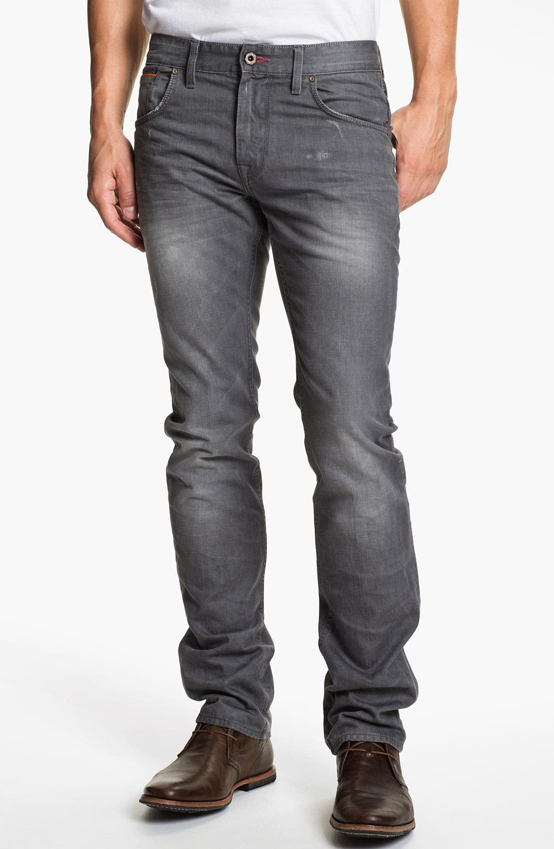 Main Image - Robert Graham Jeans 'Grey Day' Slim Straight Leg Jeans (Grey)