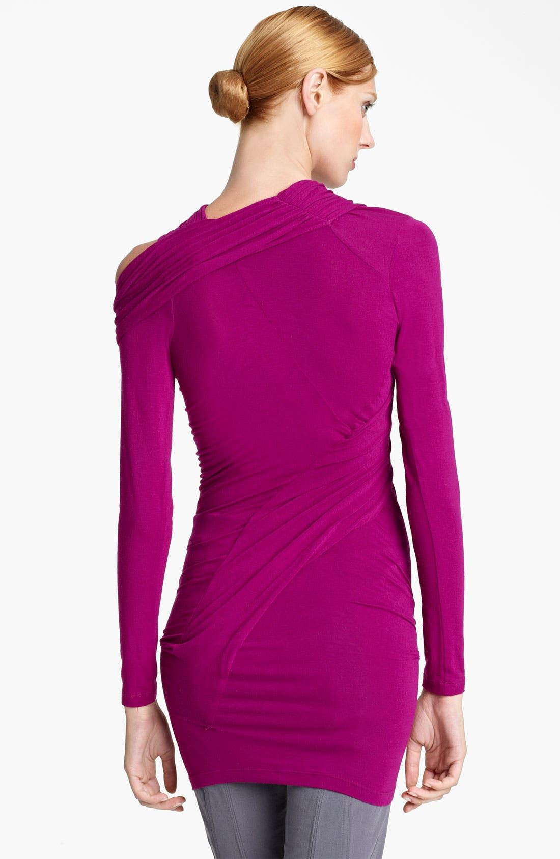 Alternate Image 2  - Donna Karan Collection Cold Shoulder Jersey Tunic