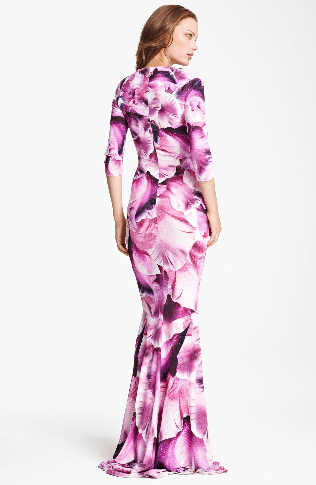 Alternate Image 2  - Roberto Cavalli Flower Print Gown