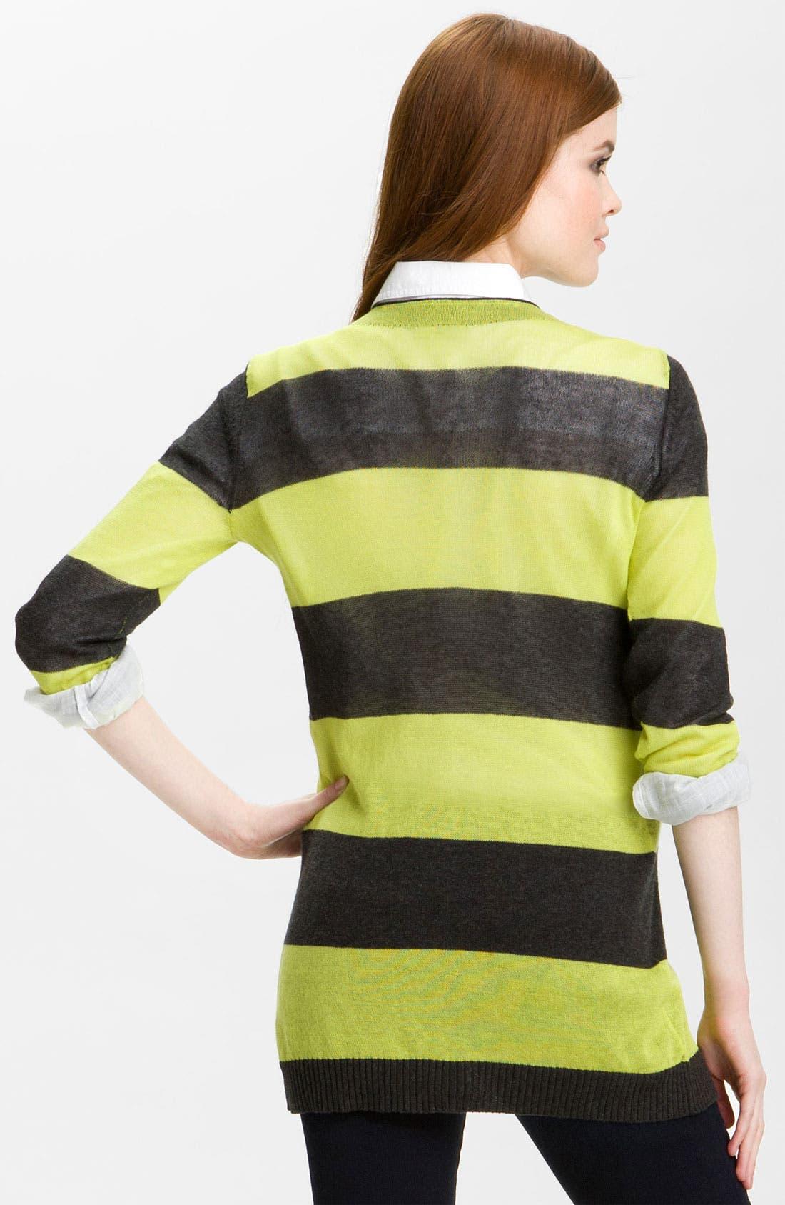 Alternate Image 2  - Caslon® Snap Front Tissue Weight Cardigan (Petite)
