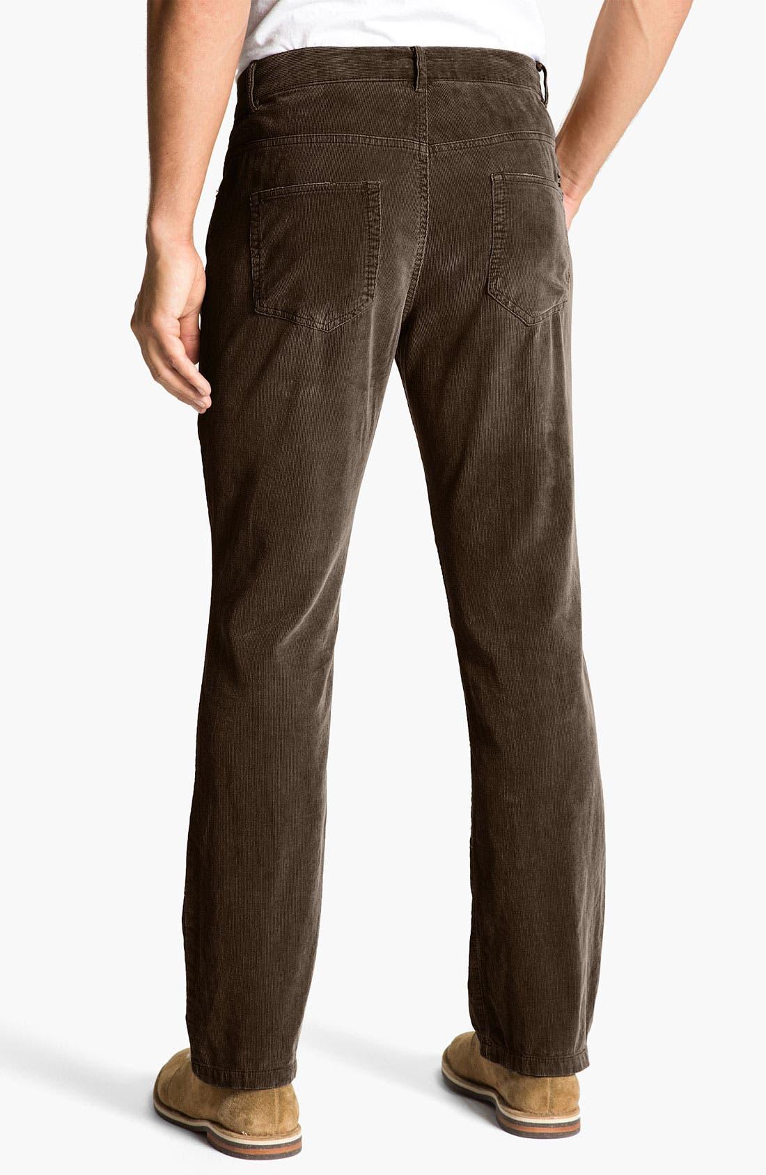 Main Image - Just A Cheap Shirt 'Adam' Straight Leg Corduroy Pants