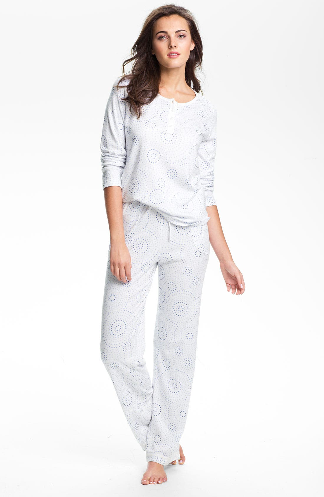 Alternate Image 1 Selected - Carole Hochman Designs Interlock Knit Pajamas