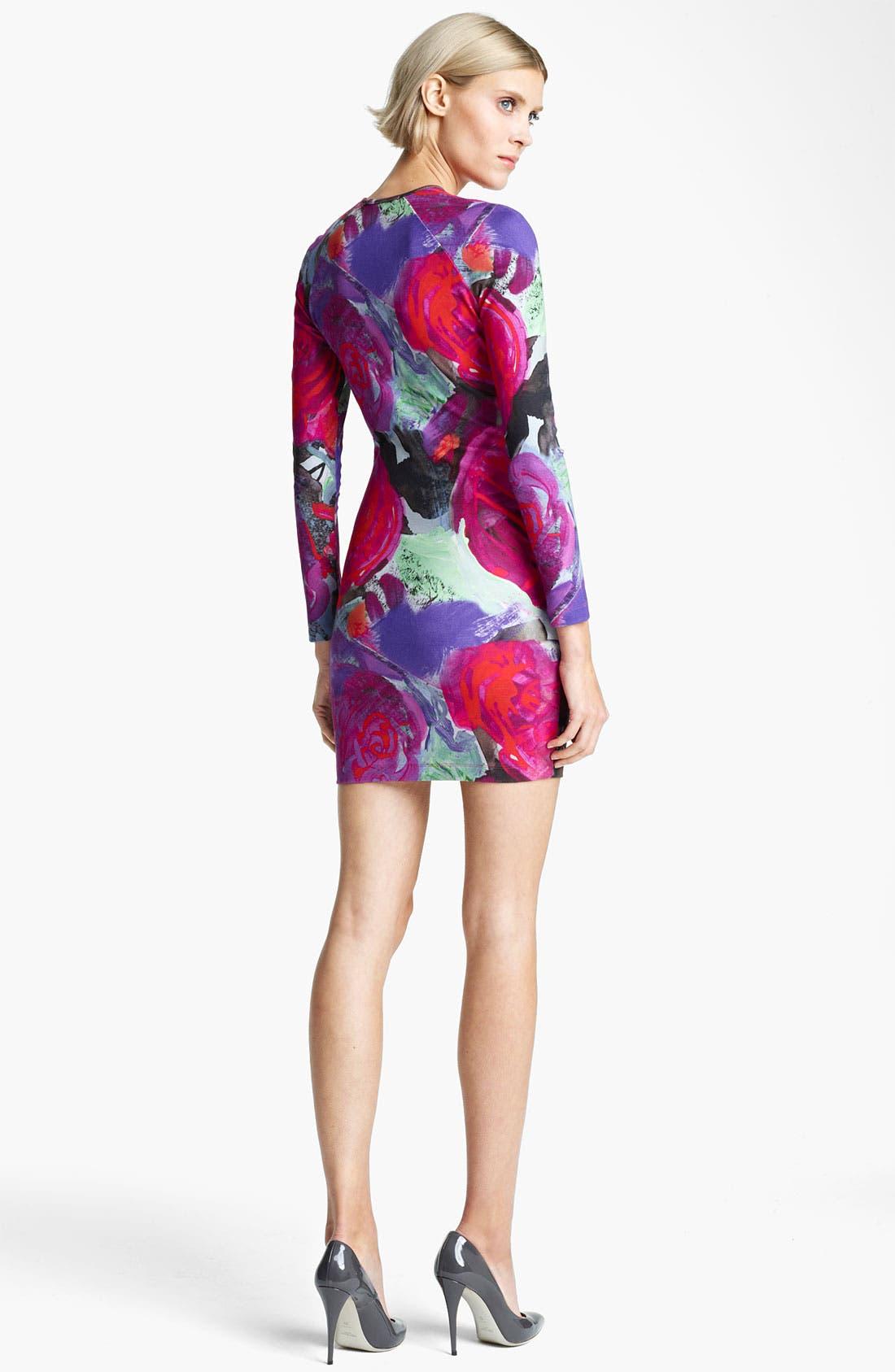 Alternate Image 2  - Christopher Kane Floral Print Jersey Dress