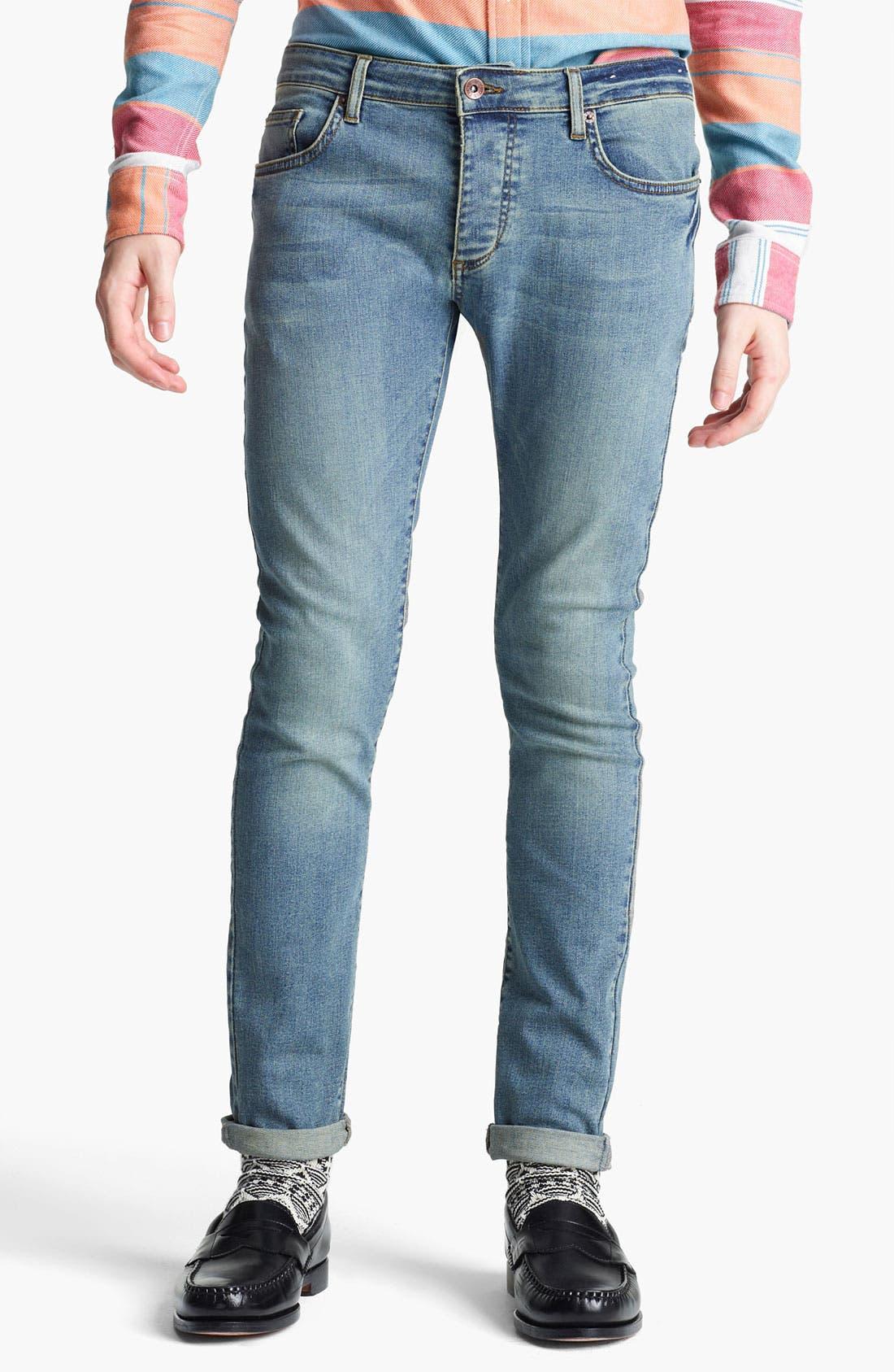 Alternate Image 1 Selected - Topman 'Spray On' Skinny Jeans (Atlanta)