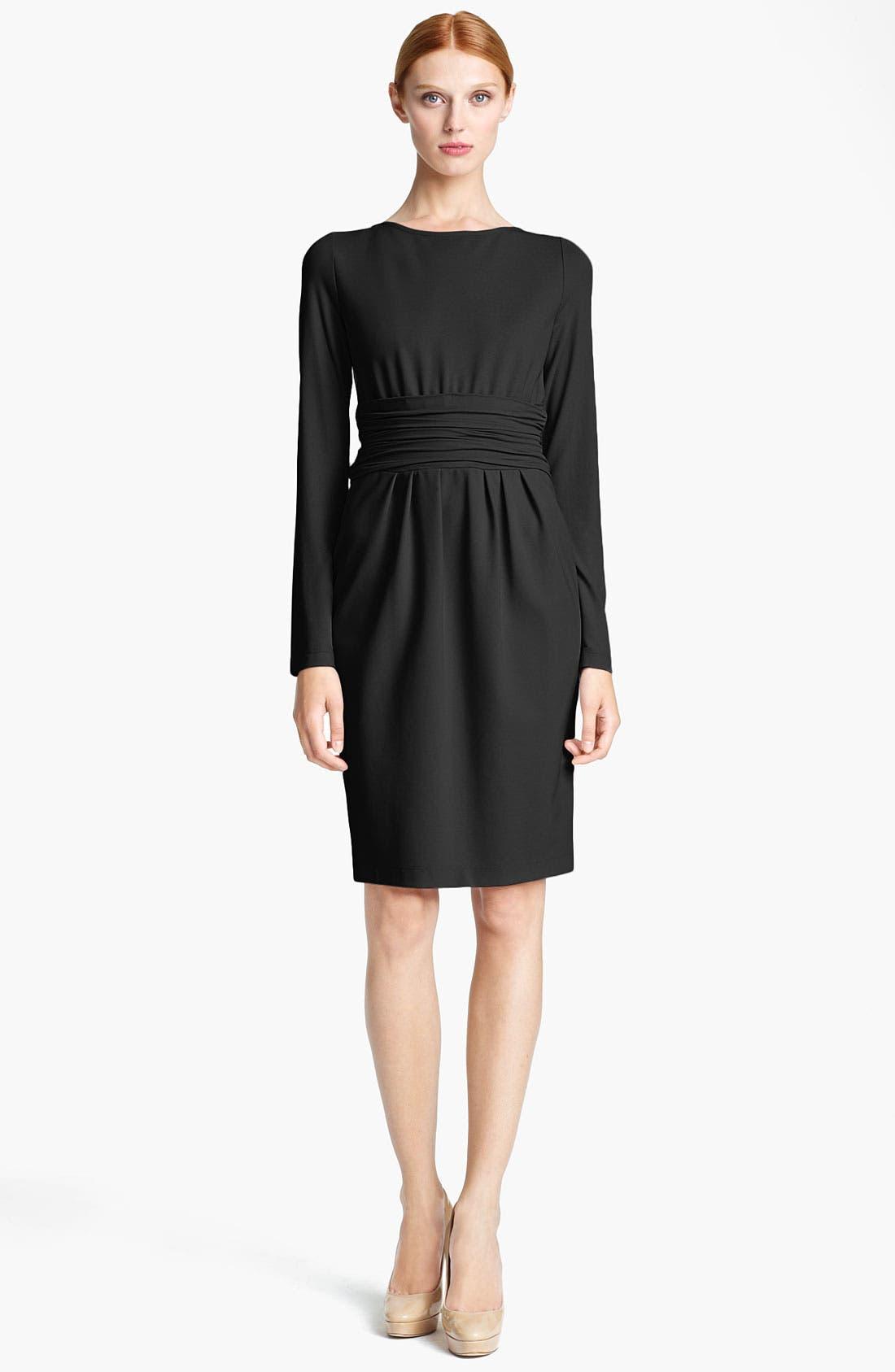 Main Image - Max Mara 'Angolo' Ruched Waist Jersey Dress