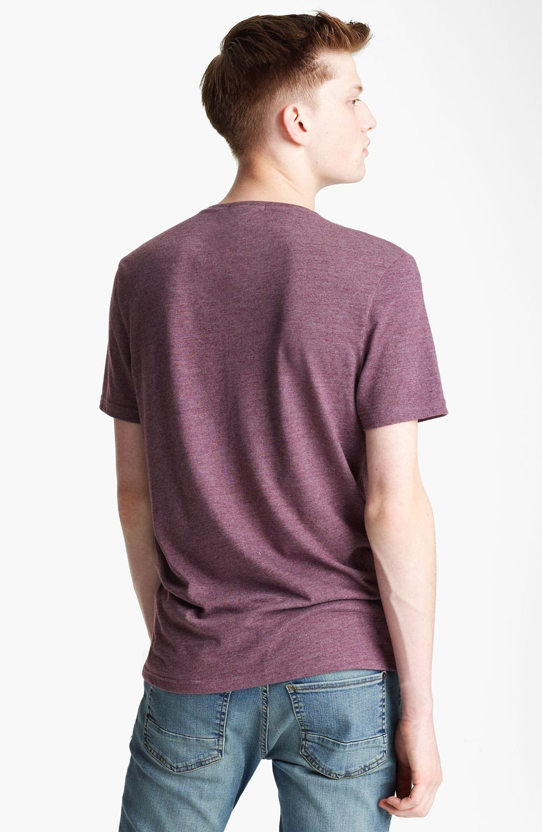 Alternate Image 2  - Topman 'Cut & Sew' Quilted Yoke T-Shirt
