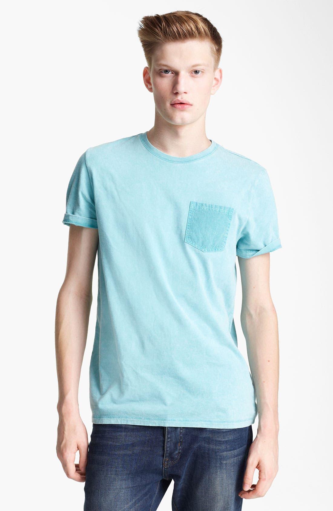 Main Image - Topman Washed Cotton Pocket T-Shirt