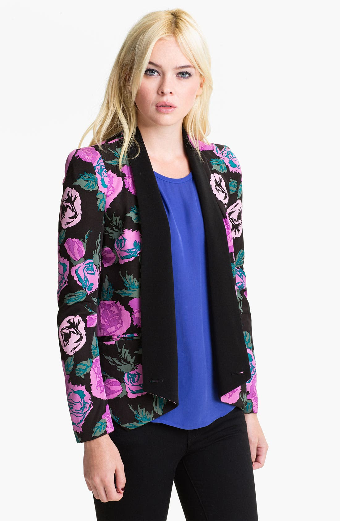 Alternate Image 1 Selected - Rebecca Minkoff 'Becky' Print Silk Jacket