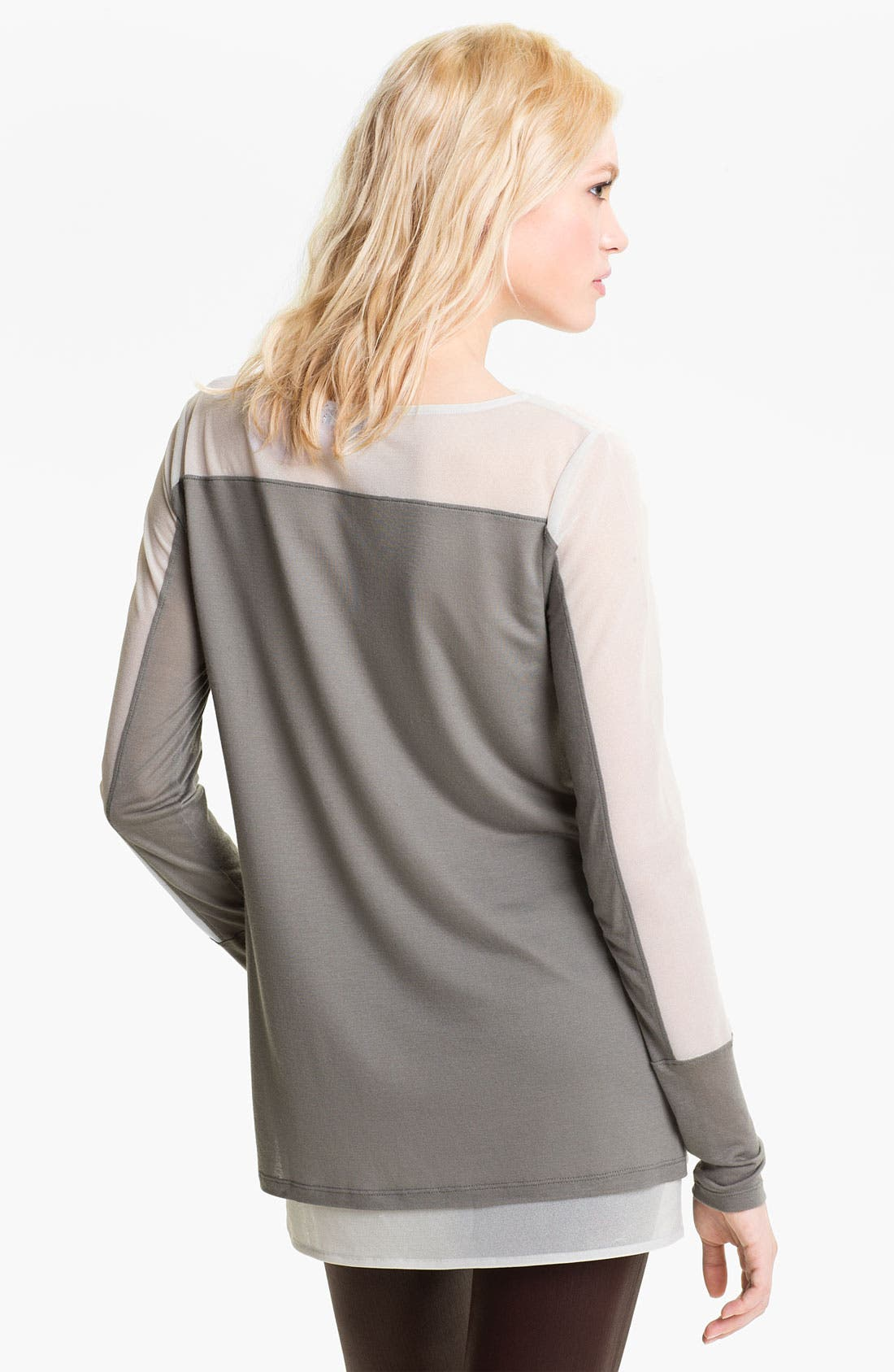 Alternate Image 2  - Trouvé Sheer Sleeve Top