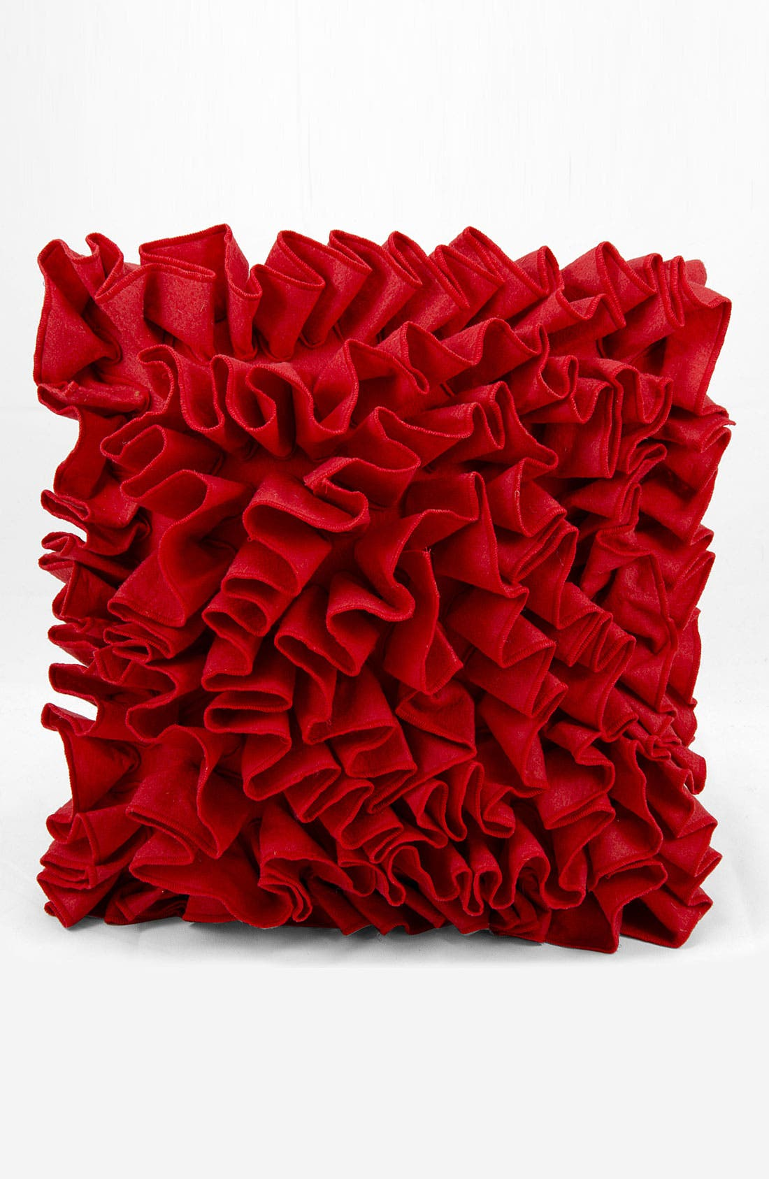 Alternate Image 1 Selected - Mina Victory Ruffle Felt Pillow