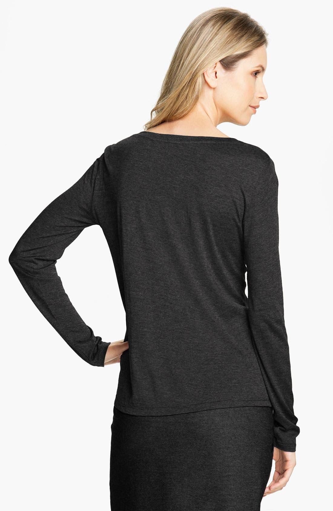 Alternate Image 2  - Eileen Fisher Long Sleeve Jersey Tee (Online Exclusive)