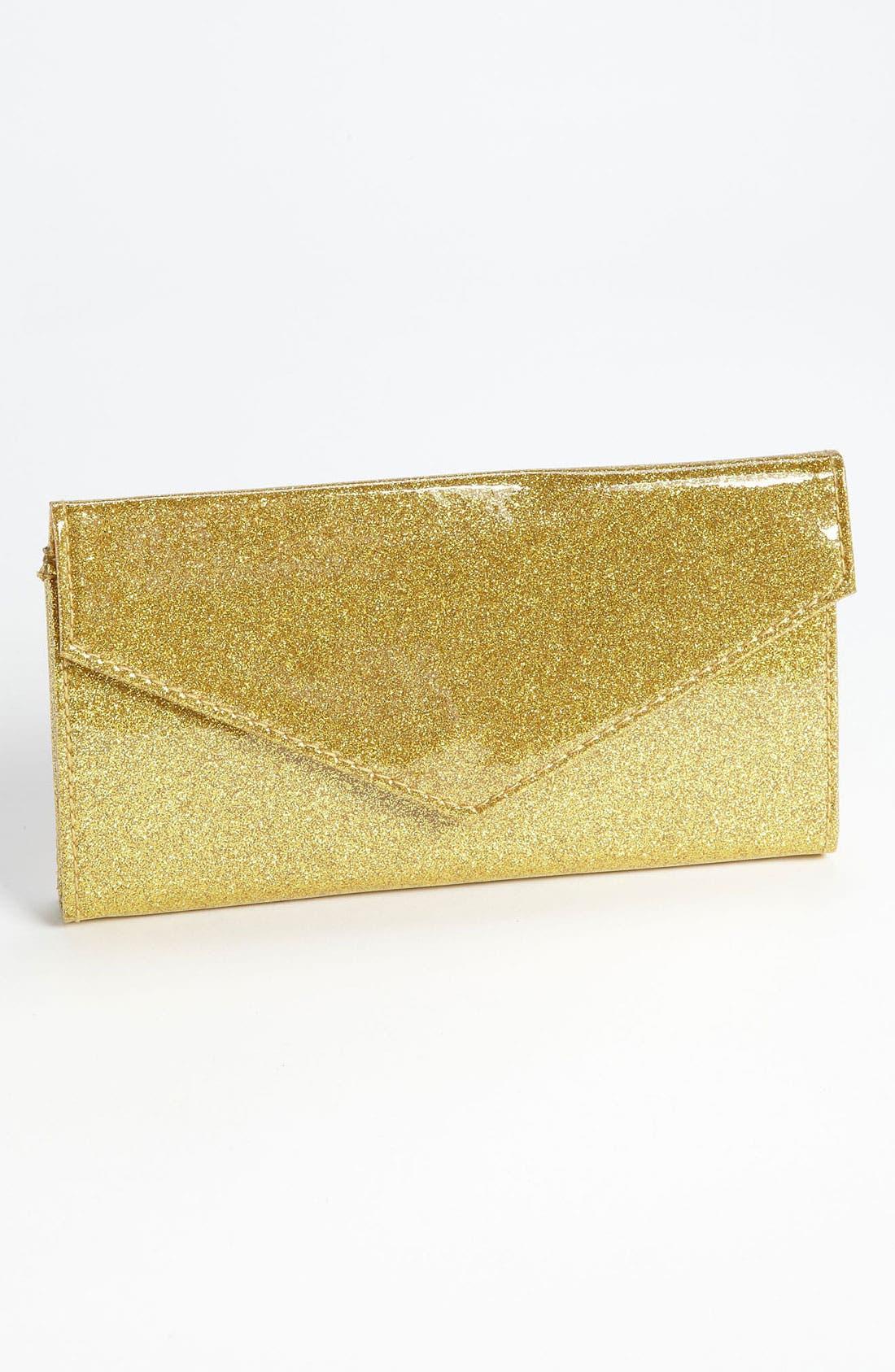Main Image - Lulu Glitter Envelope Wallet