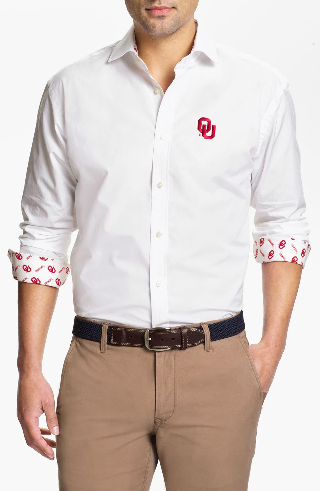Alternate Image 1 Selected - Thomas Dean 'University of Oklahoma' Sport Shirt