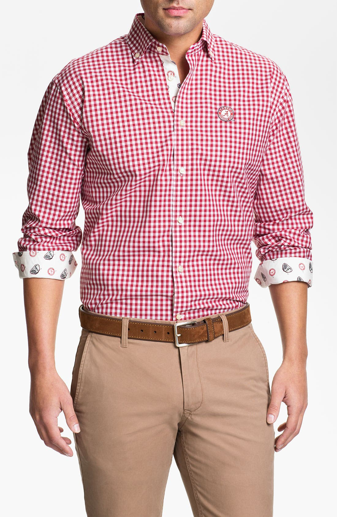 Alternate Image 1 Selected - Thomas Dean 'University of Alabama' Traditional Fit Sport Shirt