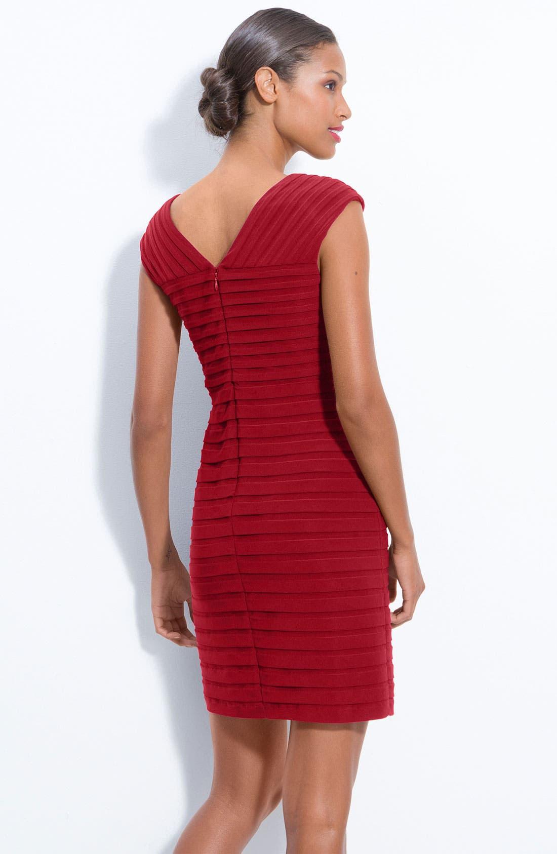 Alternate Image 2  - Adrianna Papell Pleated Sheath Dress