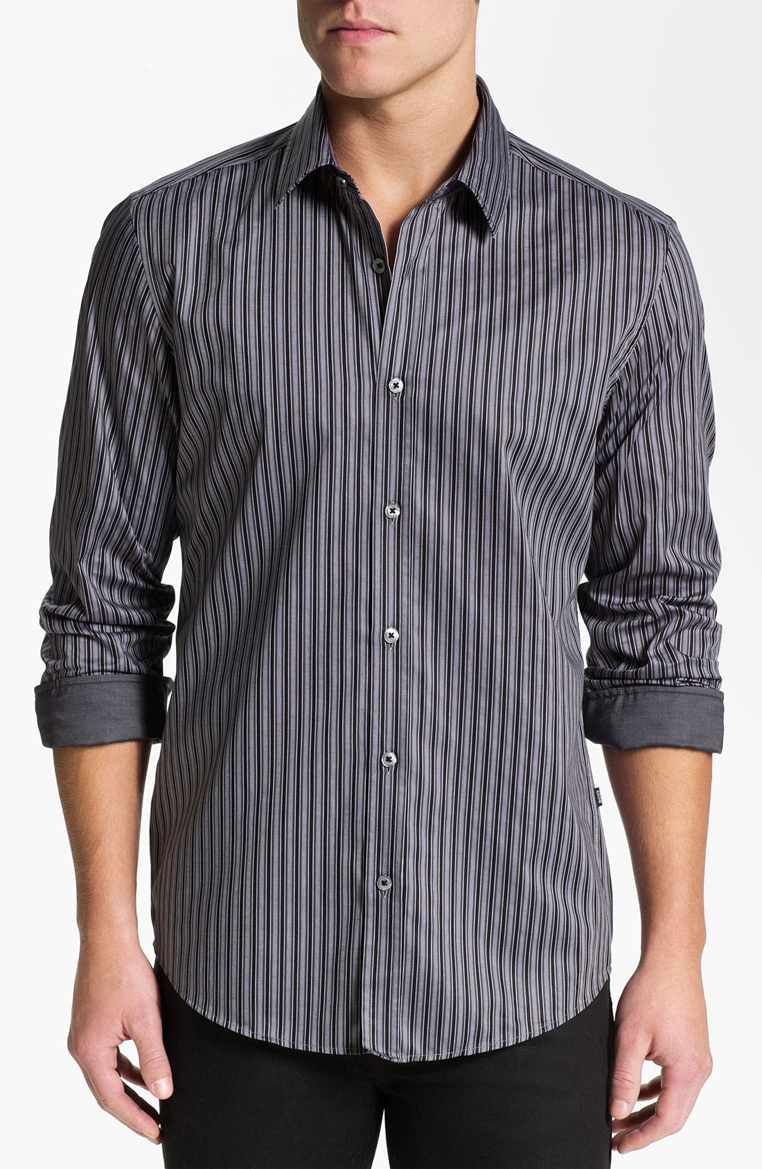 Alternate Image 1 Selected - BOSS Black 'Lucas' Regular Fit Sport Shirt