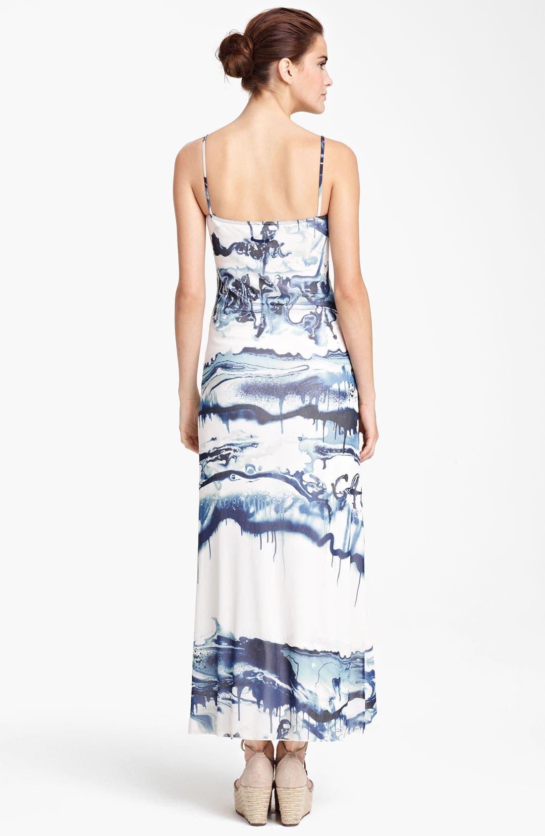 Alternate Image 2  - Jean Paul Gaultier Fuzzi Graffiti Print Tulle Maxi Dress
