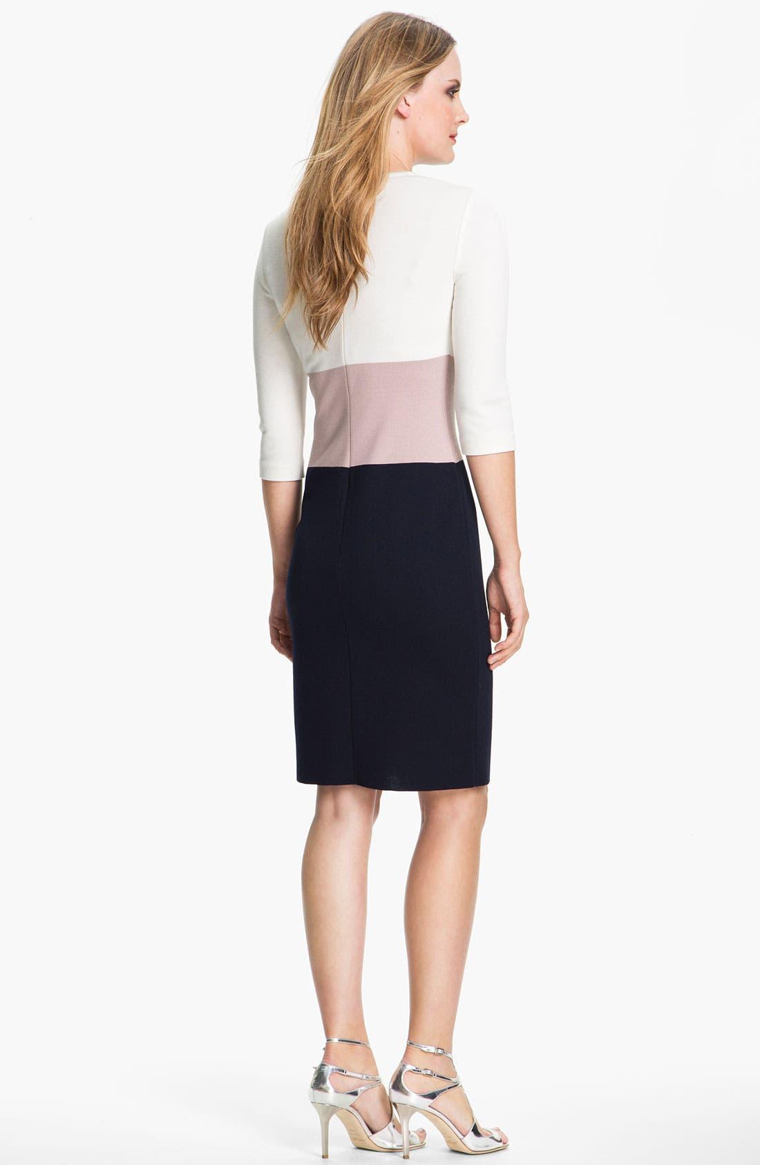 Alternate Image 2  - St. John Collection Colorblock Milano Knit Dress
