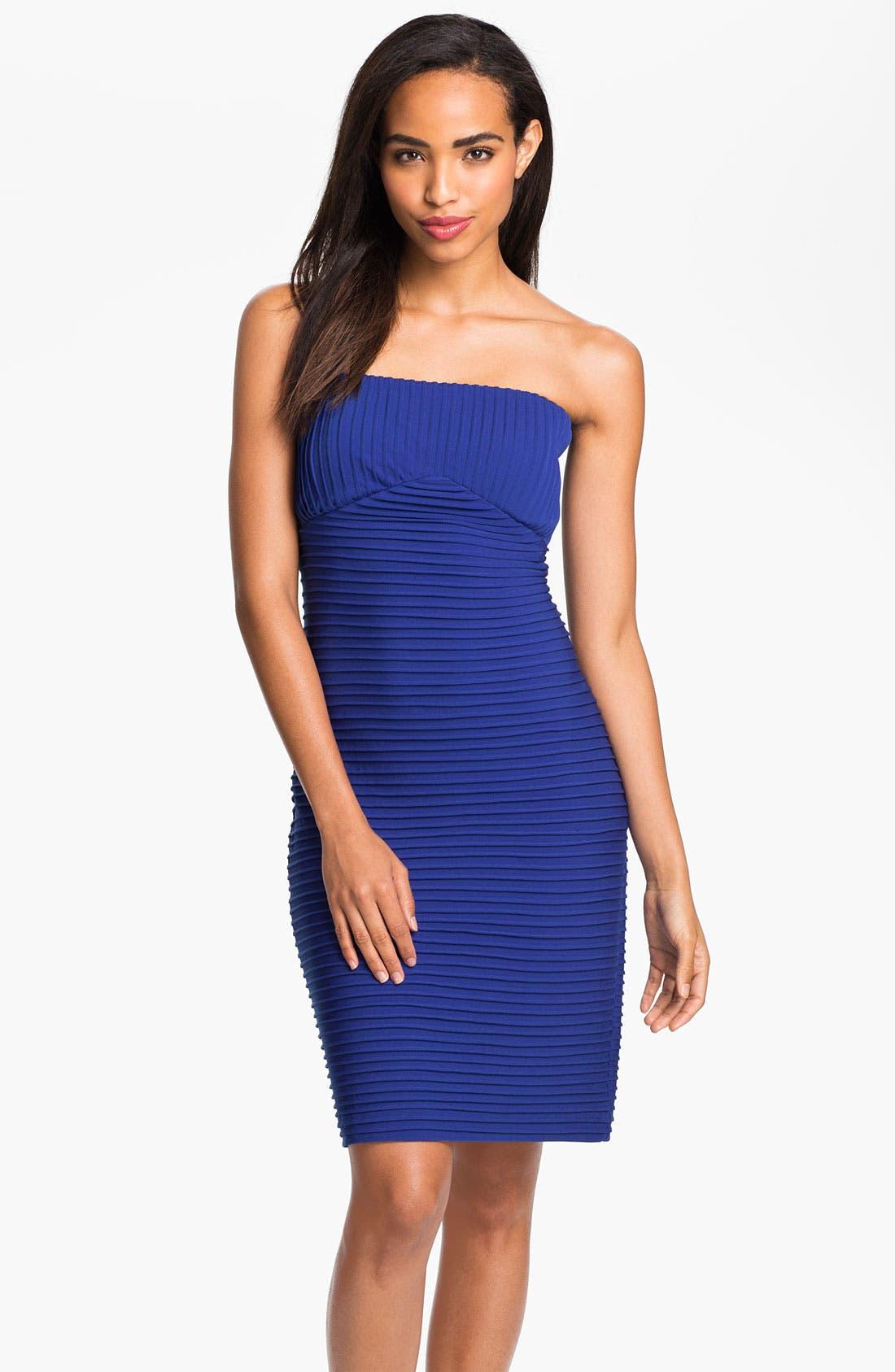 Main Image - Calvin Klein Strapless Sheath Dress