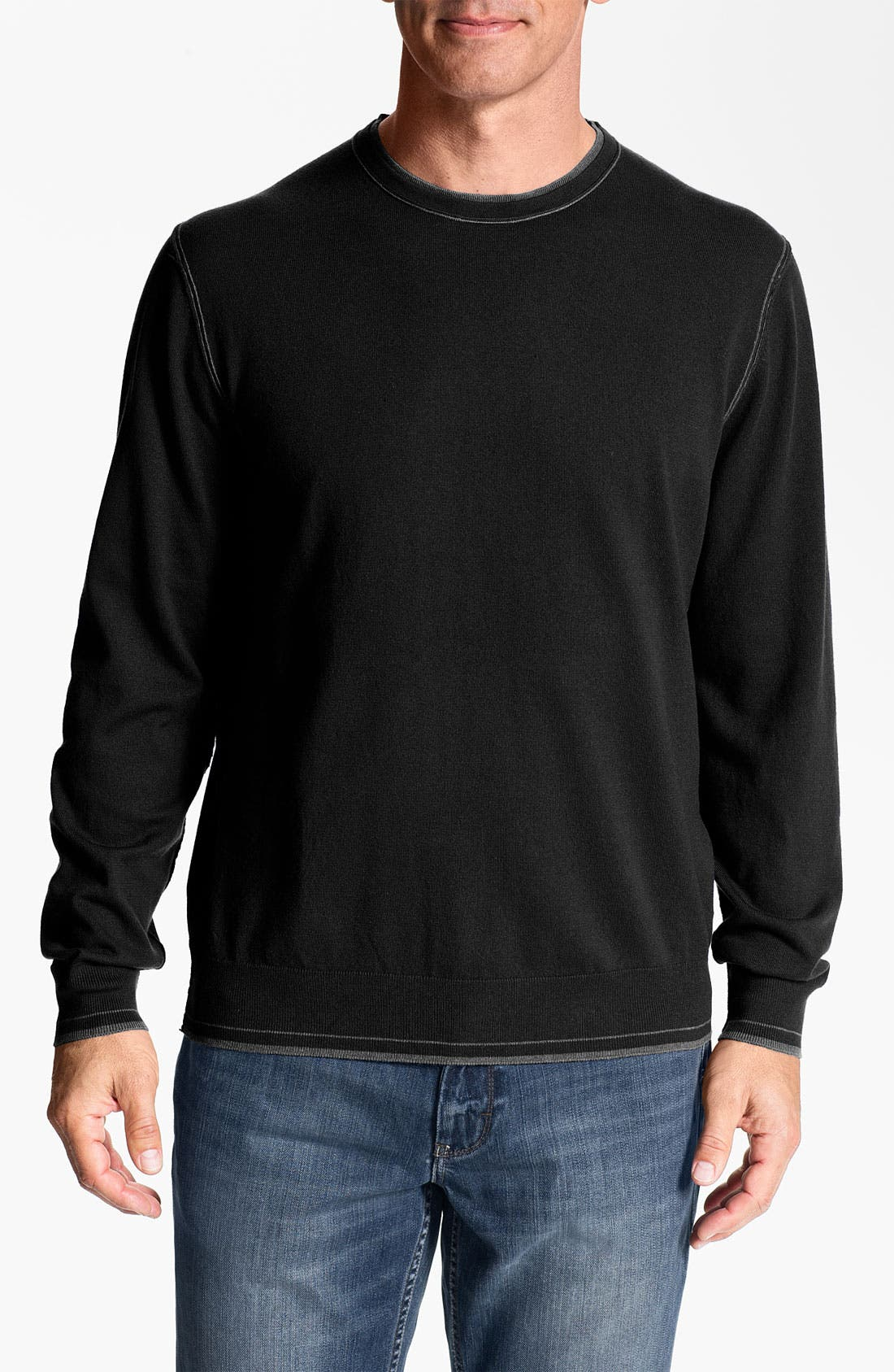 Alternate Image 1 Selected - Tommy Bahama 'Johnny Cashmere' Crewneck Cashmere Blend Sweater