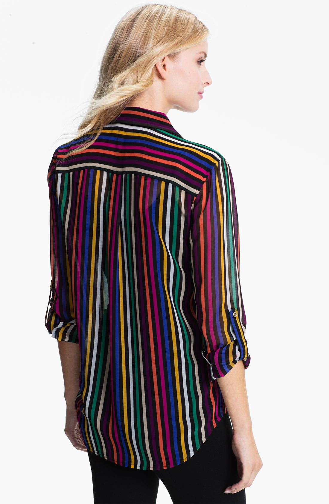 Alternate Image 2  - Chaus Stripe Chiffon Blouse