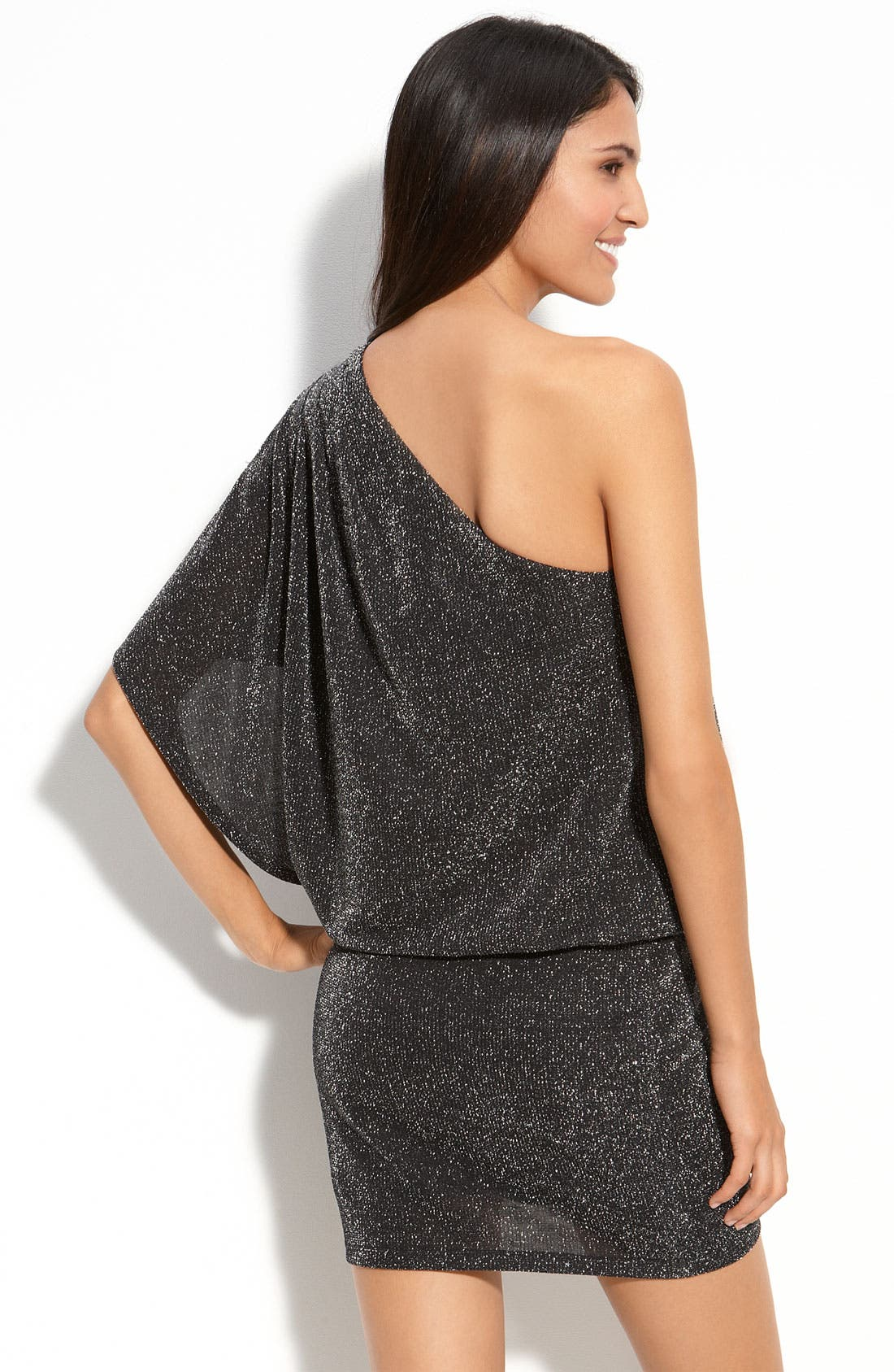 Alternate Image 2  - JS Boutique Metallic Knit Dress (Petite)