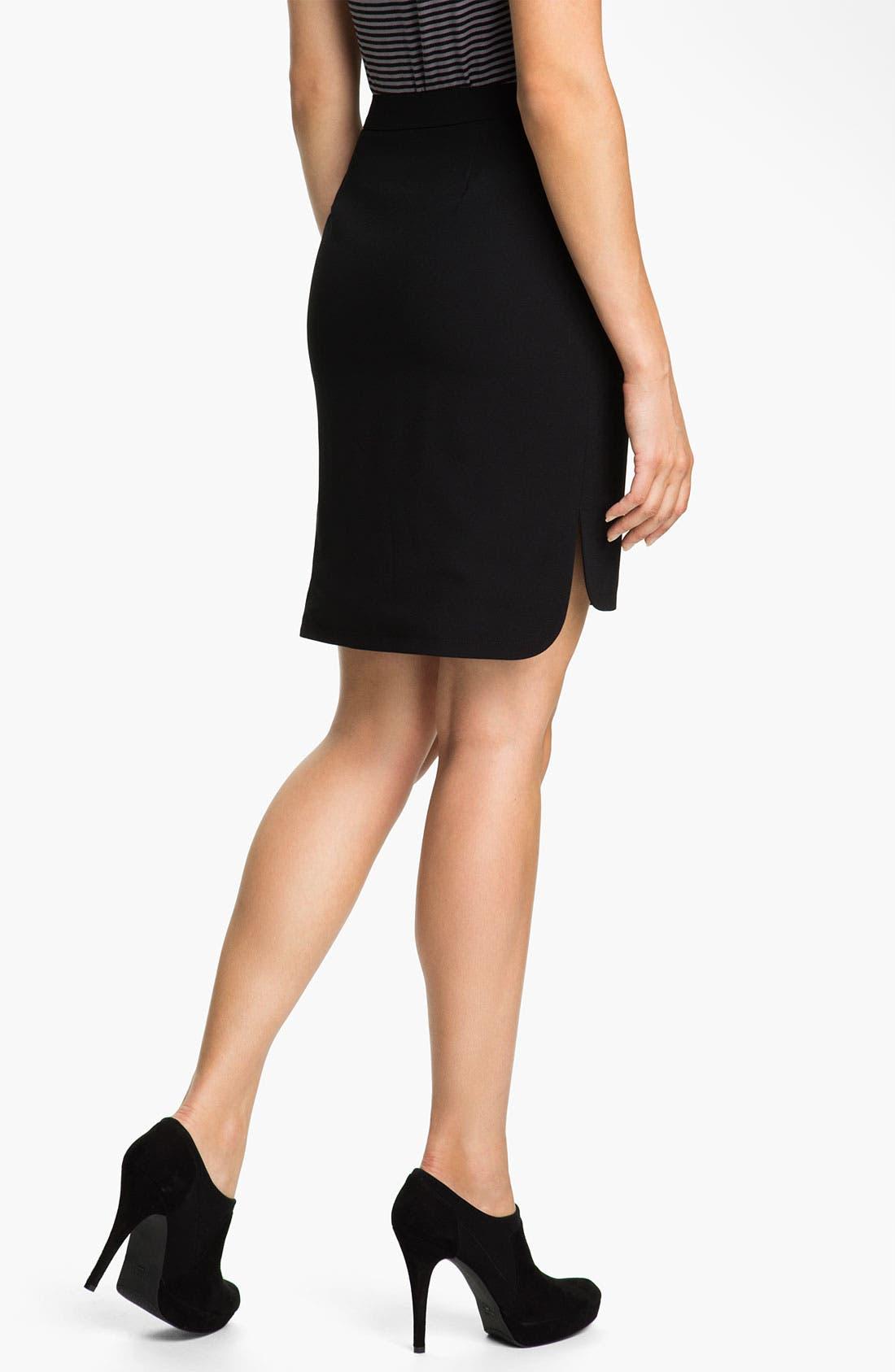 Alternate Image 2  - Halogen® High Low Skirt (Petite)