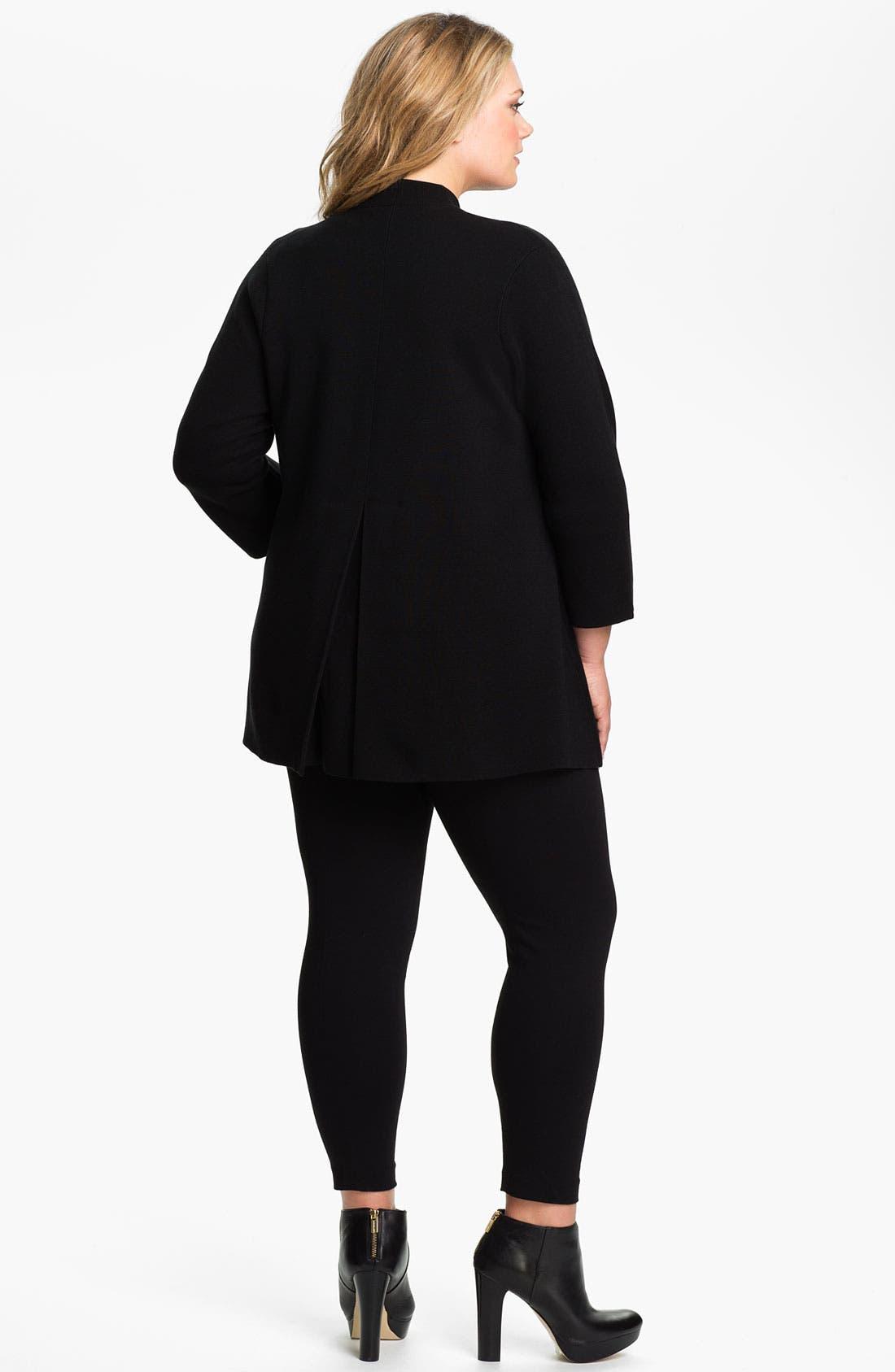 Alternate Image 5  - Eileen Fisher Silk Blend Knit Jacket (Plus)