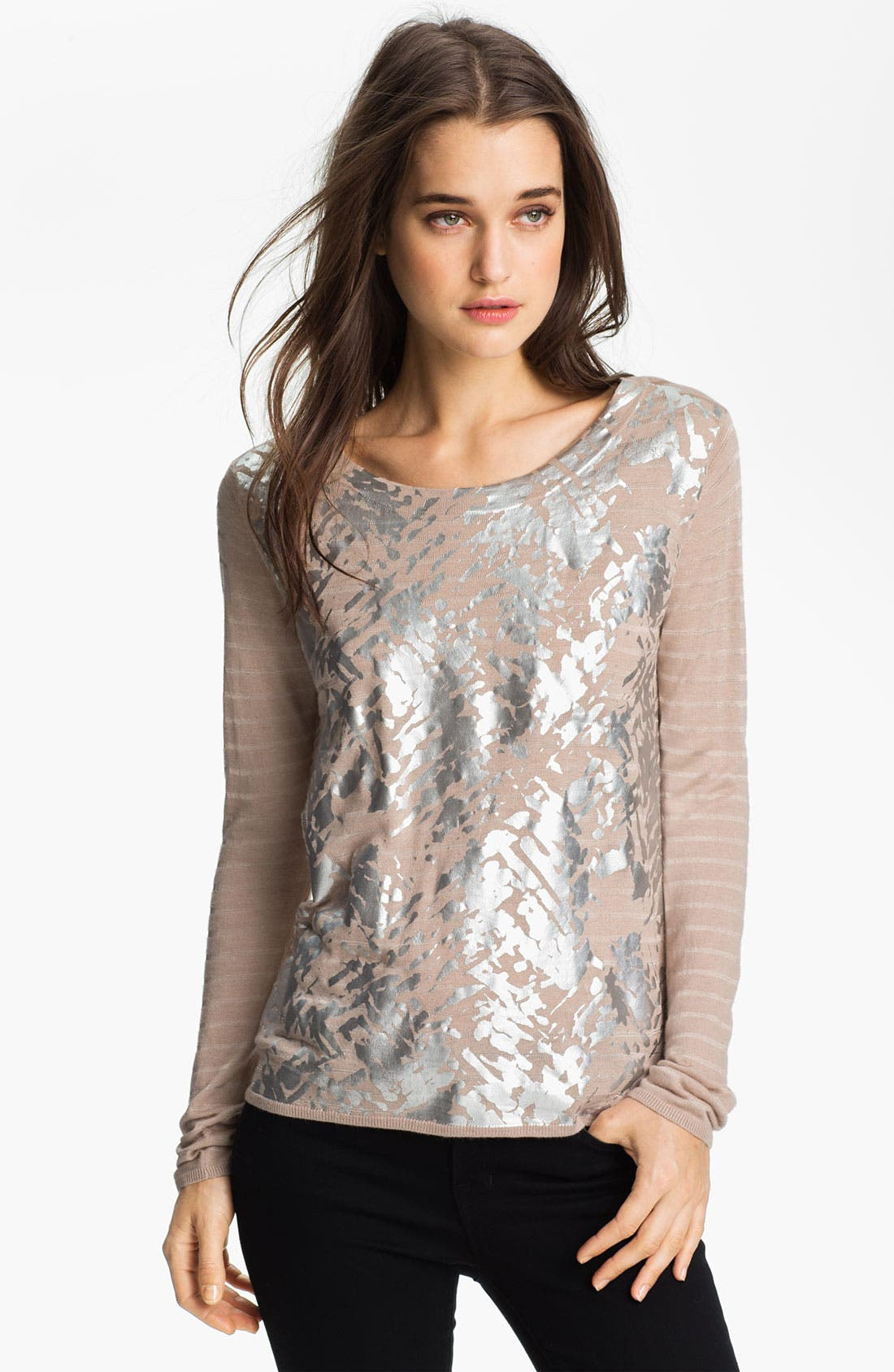 Alternate Image 1 Selected - Trouvé Foil Print Sweater